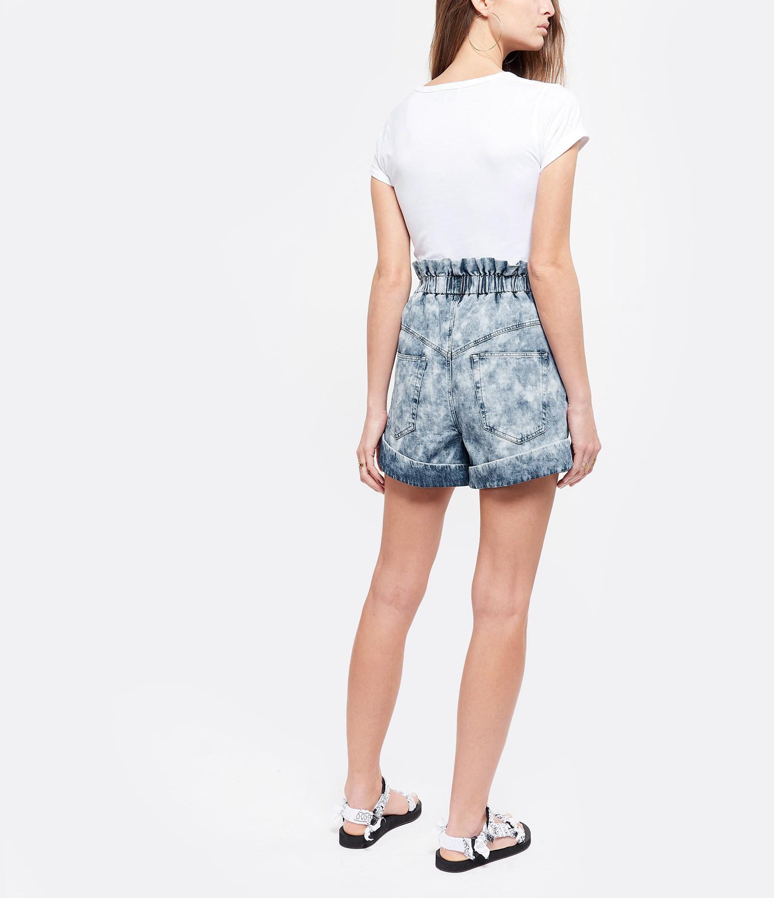MAISON LABICHE - Tee-shirt Yessss Coton Blanc Bleu