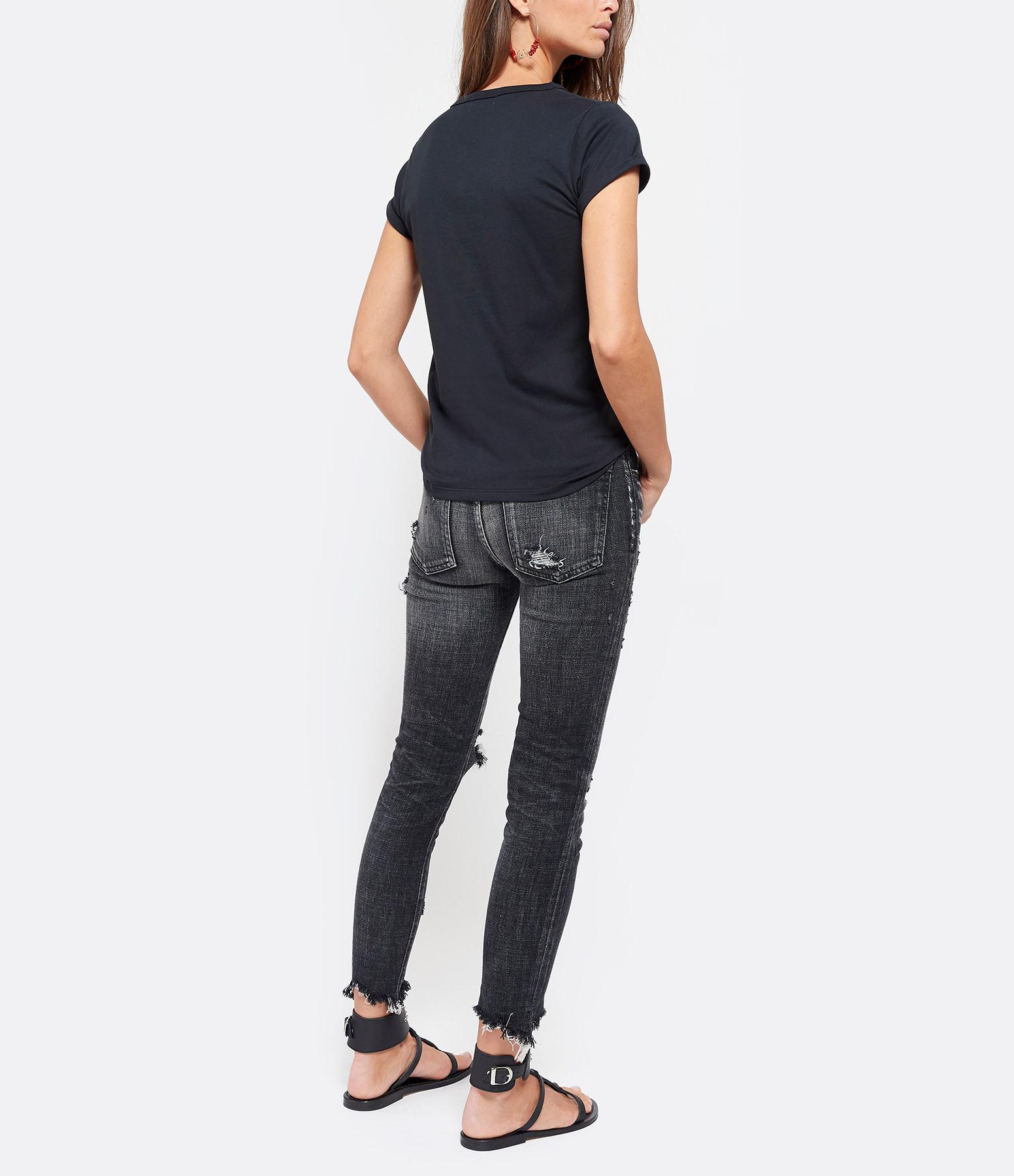 MAISON LABICHE - Tee-shirt Oh La La ! Coton Noir Rose