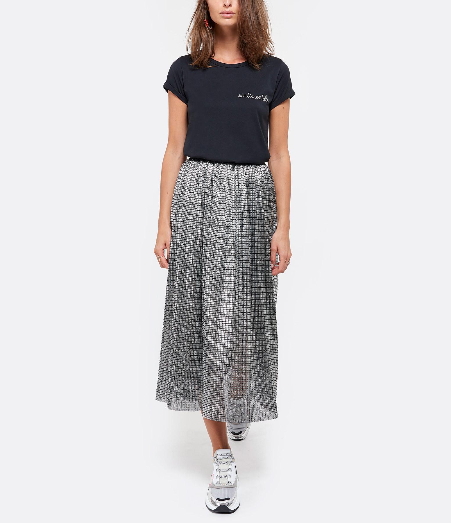 MAISON LABICHE - Tee-shirt Sentimentale Coton Noir Rose
