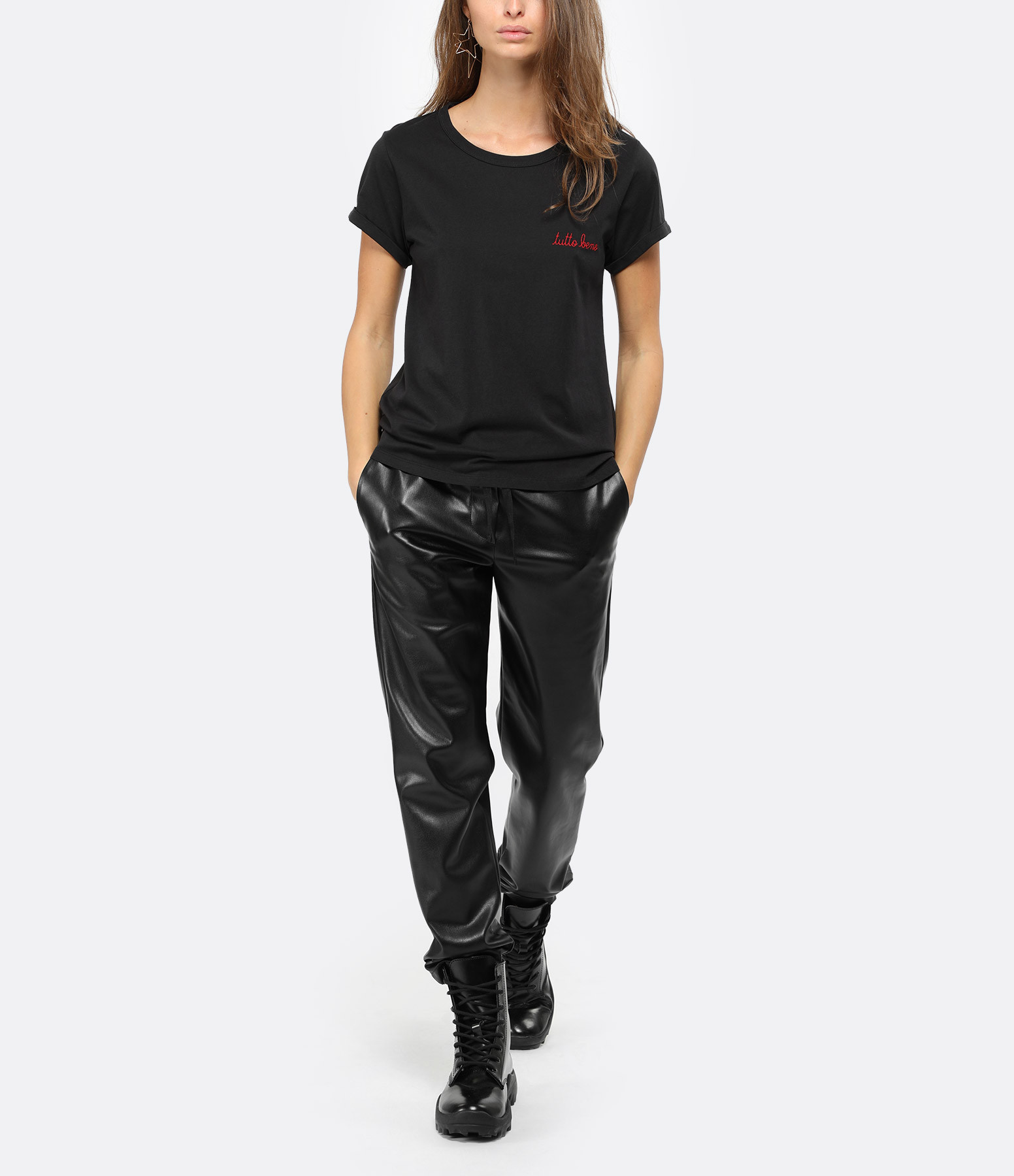 MAISON LABICHE - Tee-shirt Tutto Bene Noir