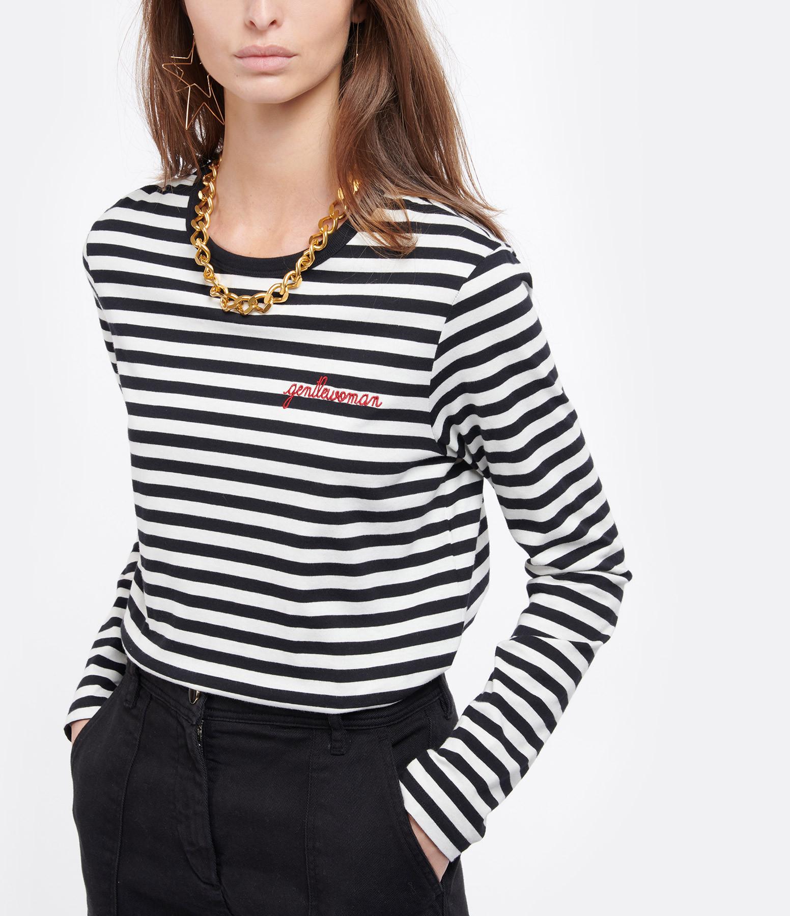 MAISON LABICHE - Tee-shirt Gentlewoman Rayures Noir Blanc