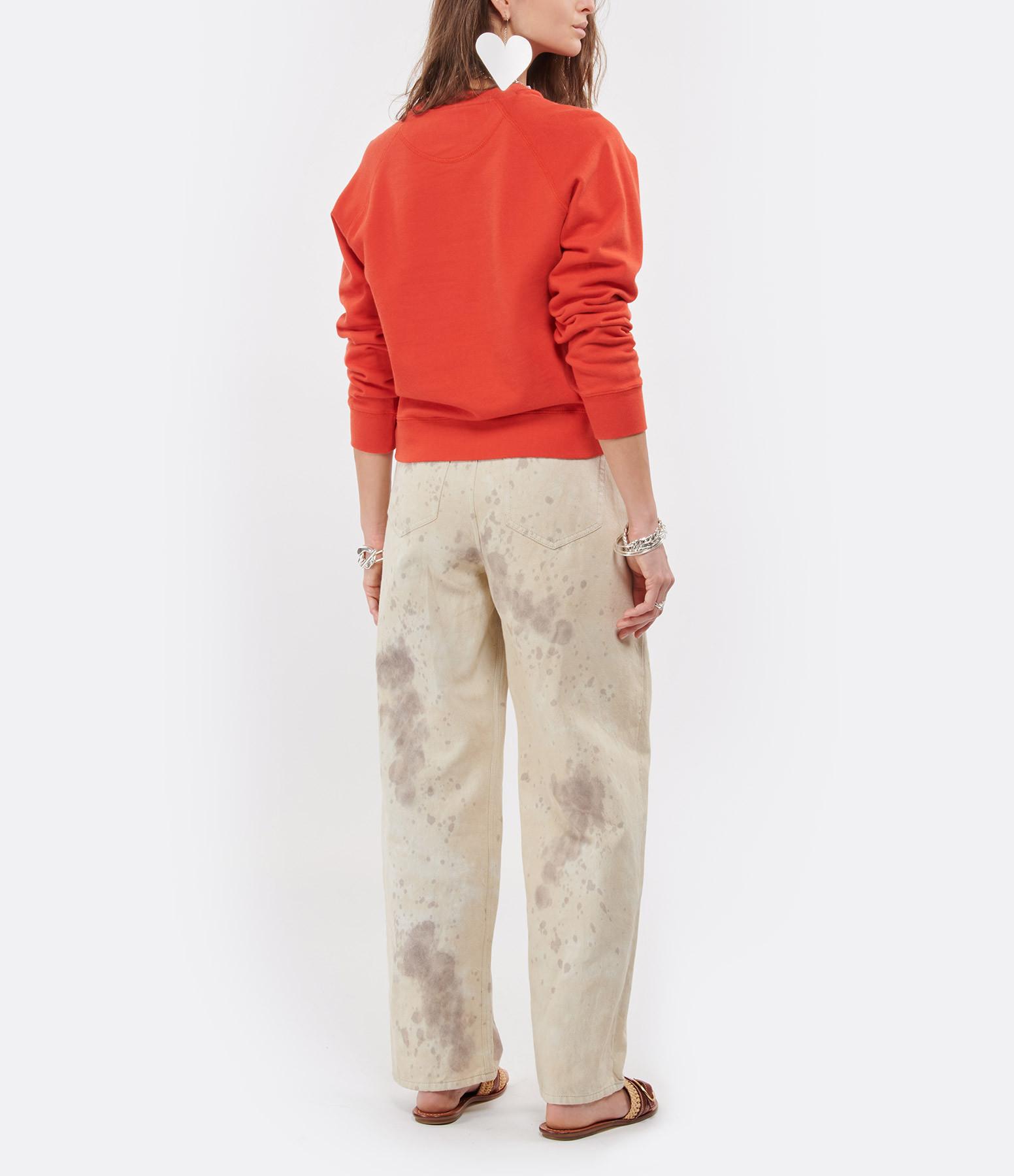 MAISON LABICHE - Sweatshirt Heartbreaker Coton Biologique Rouge