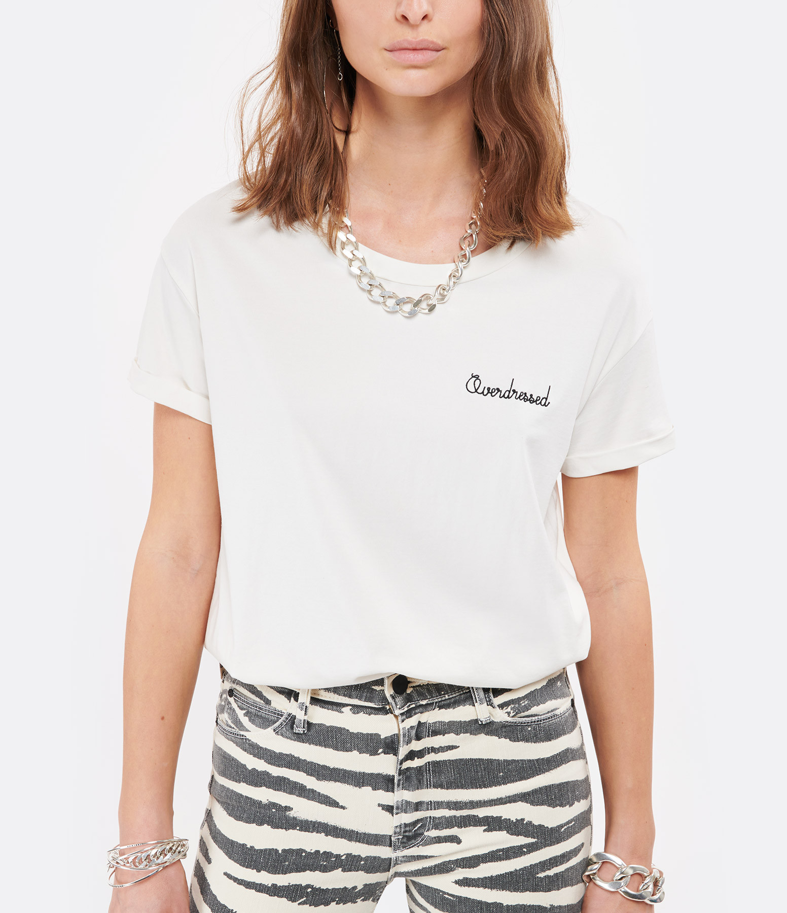 MAISON LABICHE - Tee-shirt Overdressed CotonÉcru