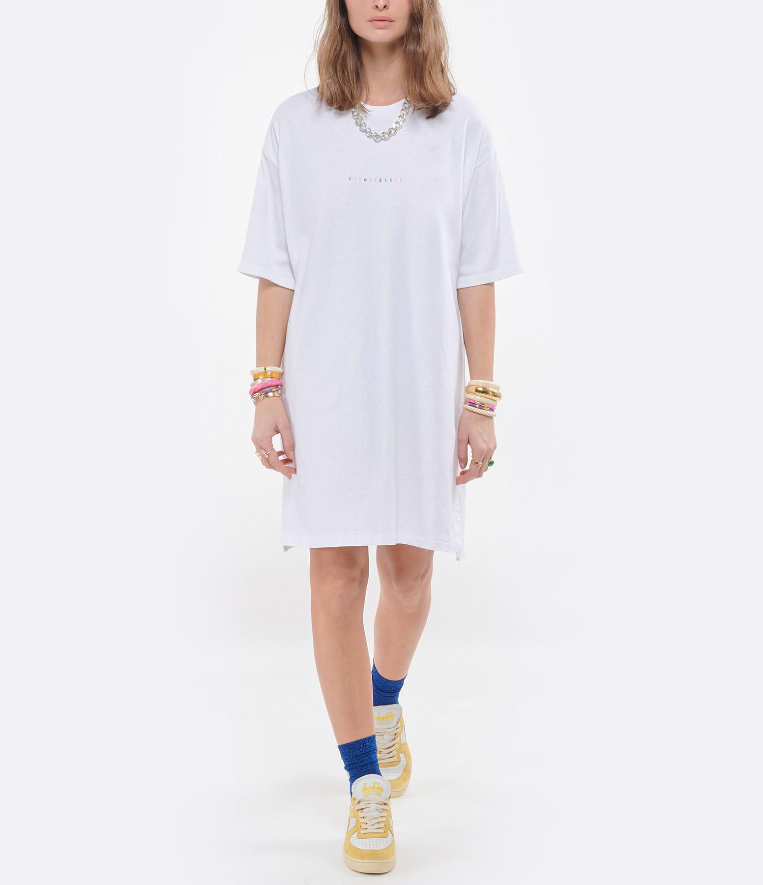 MAISON LABICHE - Robe Tee-shirt Overdressed Coton Biologique Blanc