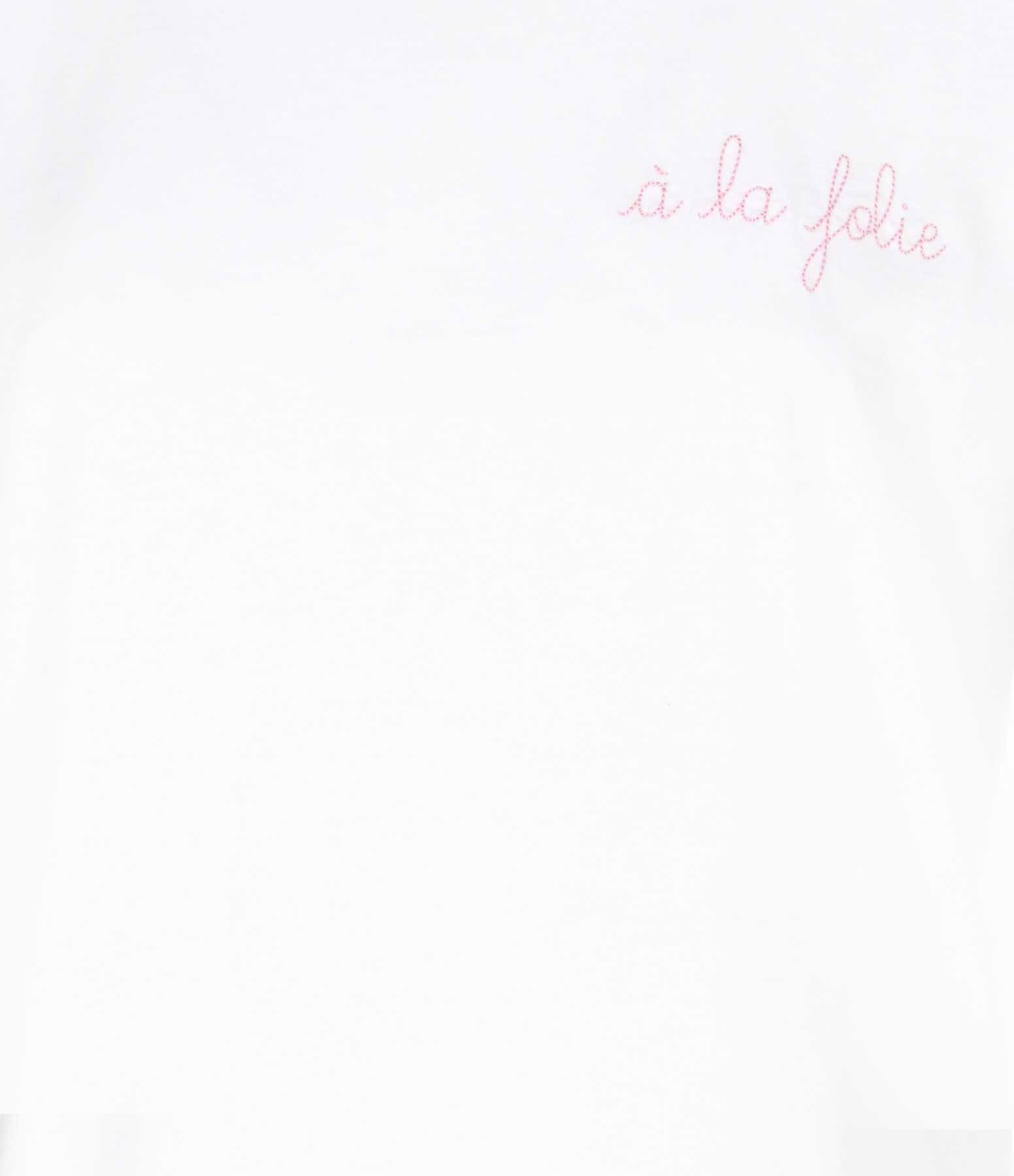 MAISON LABICHE - Tee-shirt À la Folie Blanc Rose