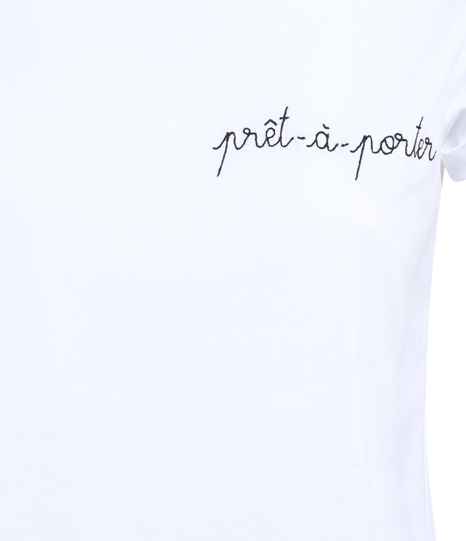 MAISON LABICHE - Tee-shirt Pret à Porter Coton Blanc Noir