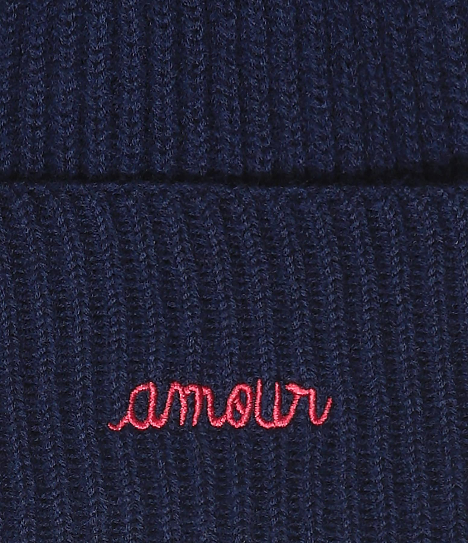 MAISON LABICHE - Bonnet Amour Laine Navy