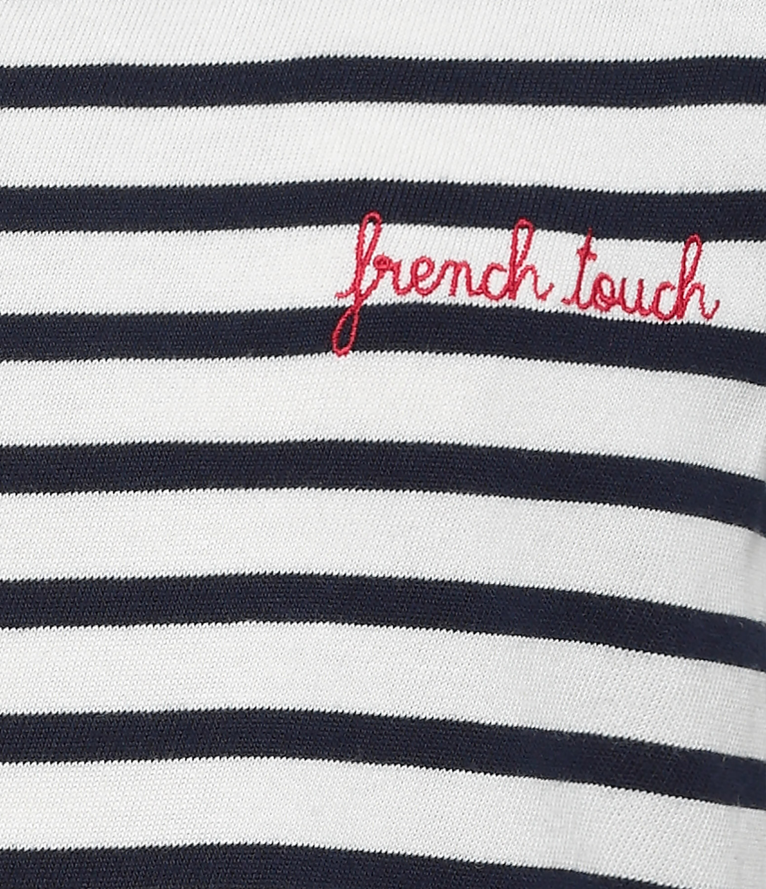 MAISON LABICHE - Tee-shirt French Touch Rayures Navy Ivoire