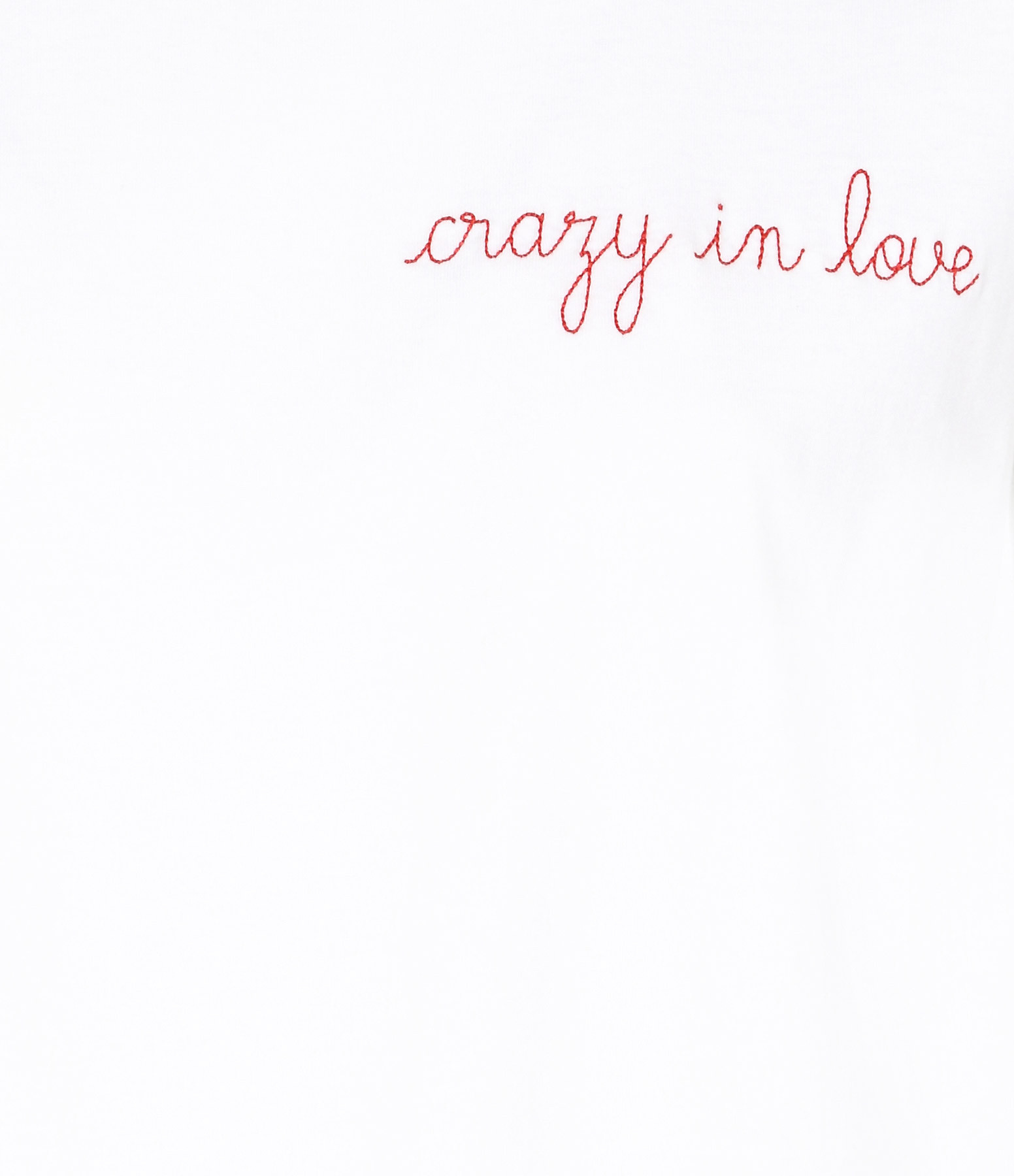 MAISON LABICHE - Tee-shirt Crazy in Love Blanc