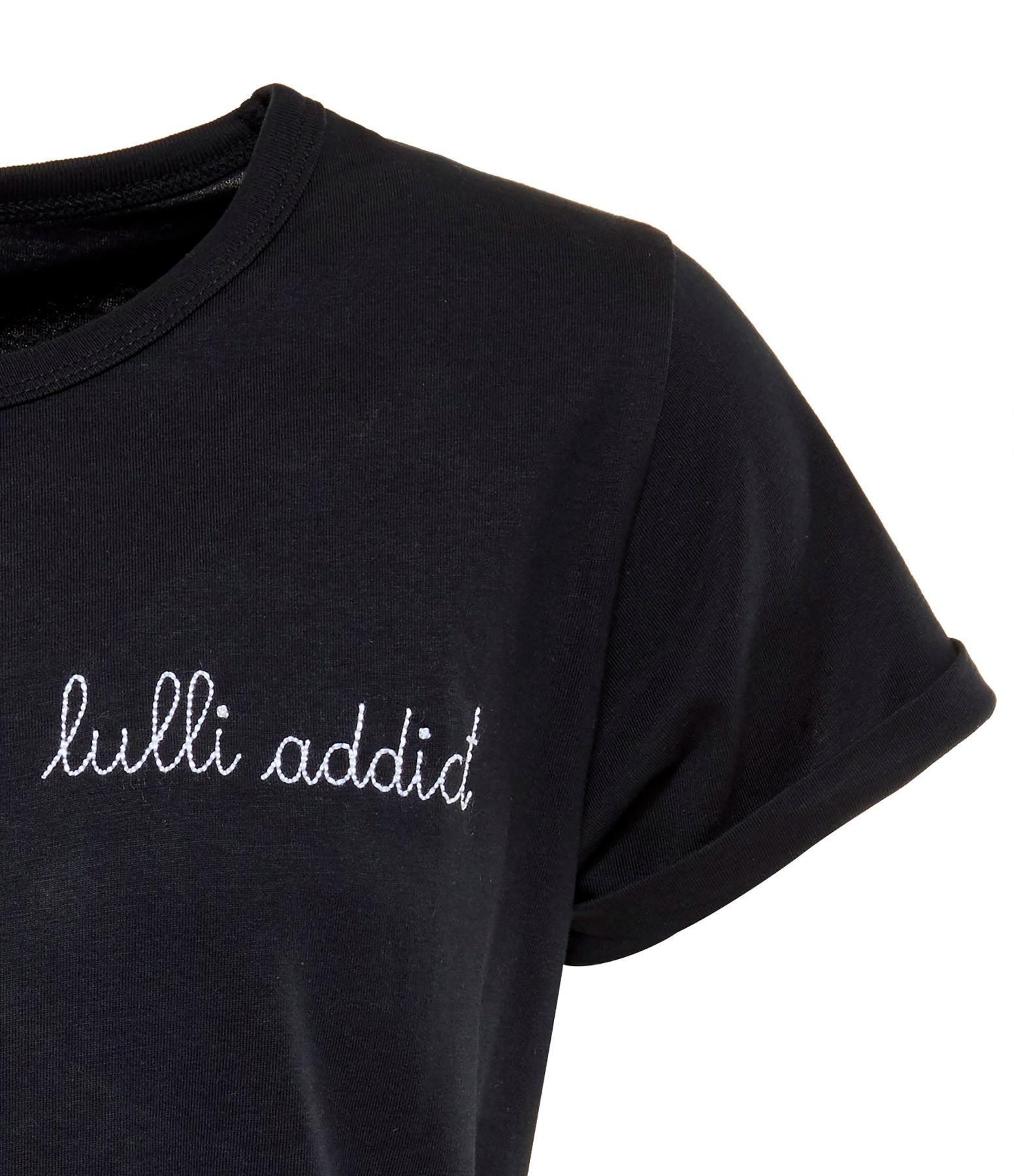 MAISON LABICHE - Tee-shirt Lulli Addictn Noir, Exclusivité Lulli x Maison Labiche