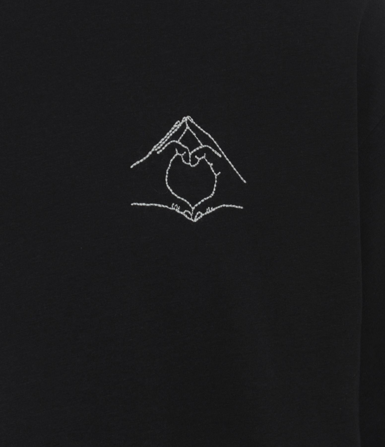 MAISON LABICHE - Tee-shirt Hand Love Coton Noir