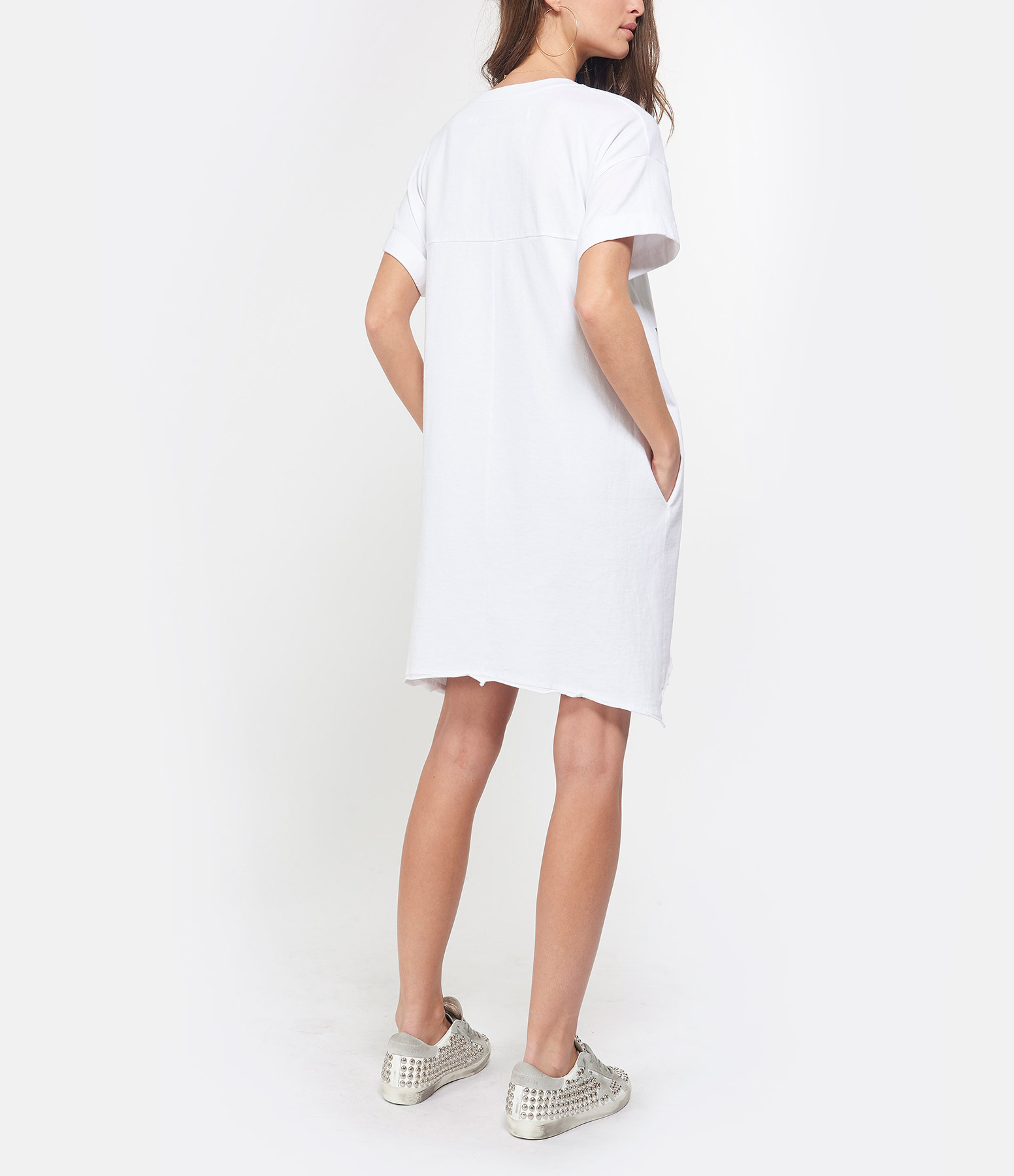 MARGAUX LONNBERG - Robe Abby Coton Blanc