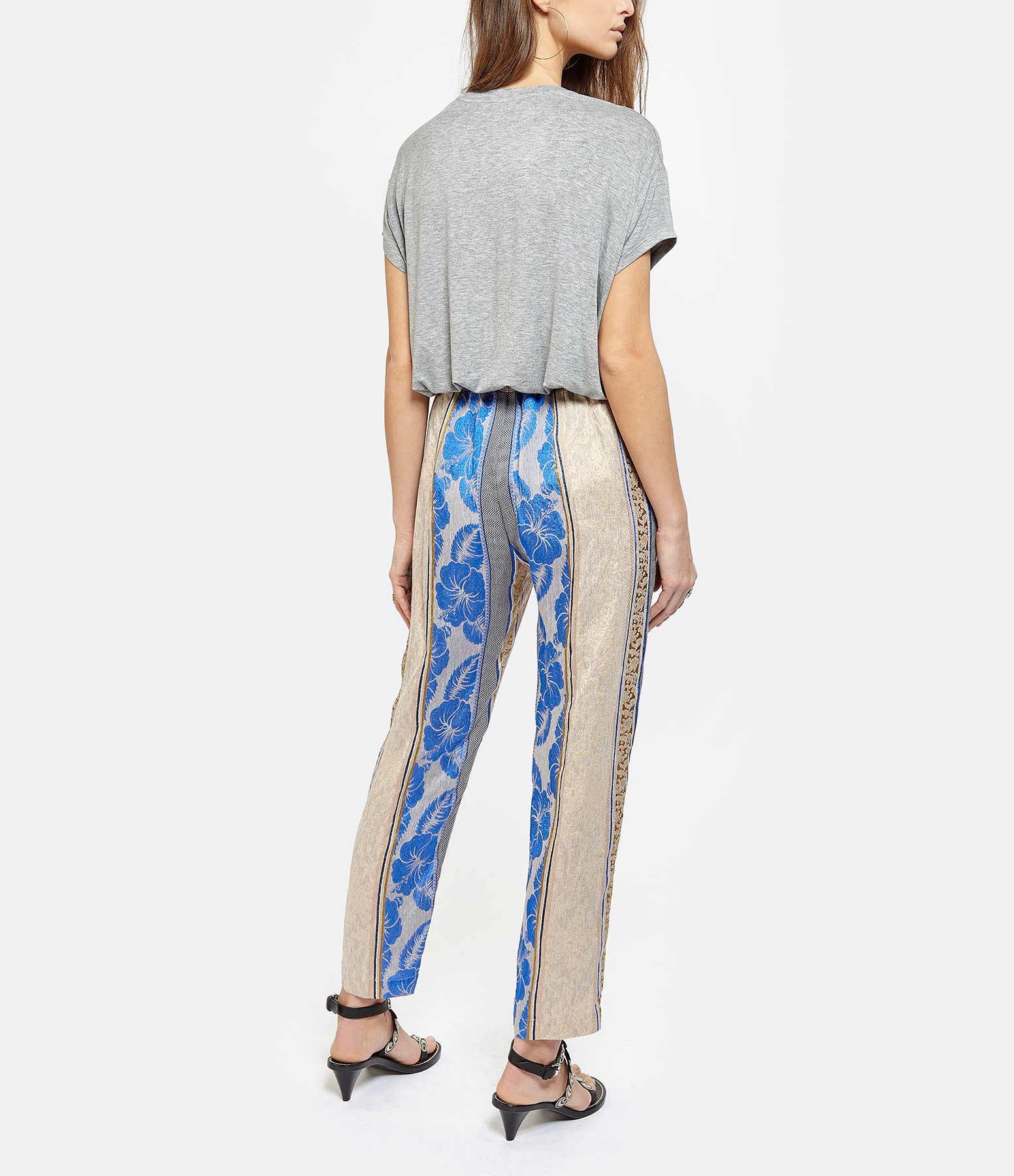 MARGAUX LONNBERG - Tee-shirt Marlow Coton Gris