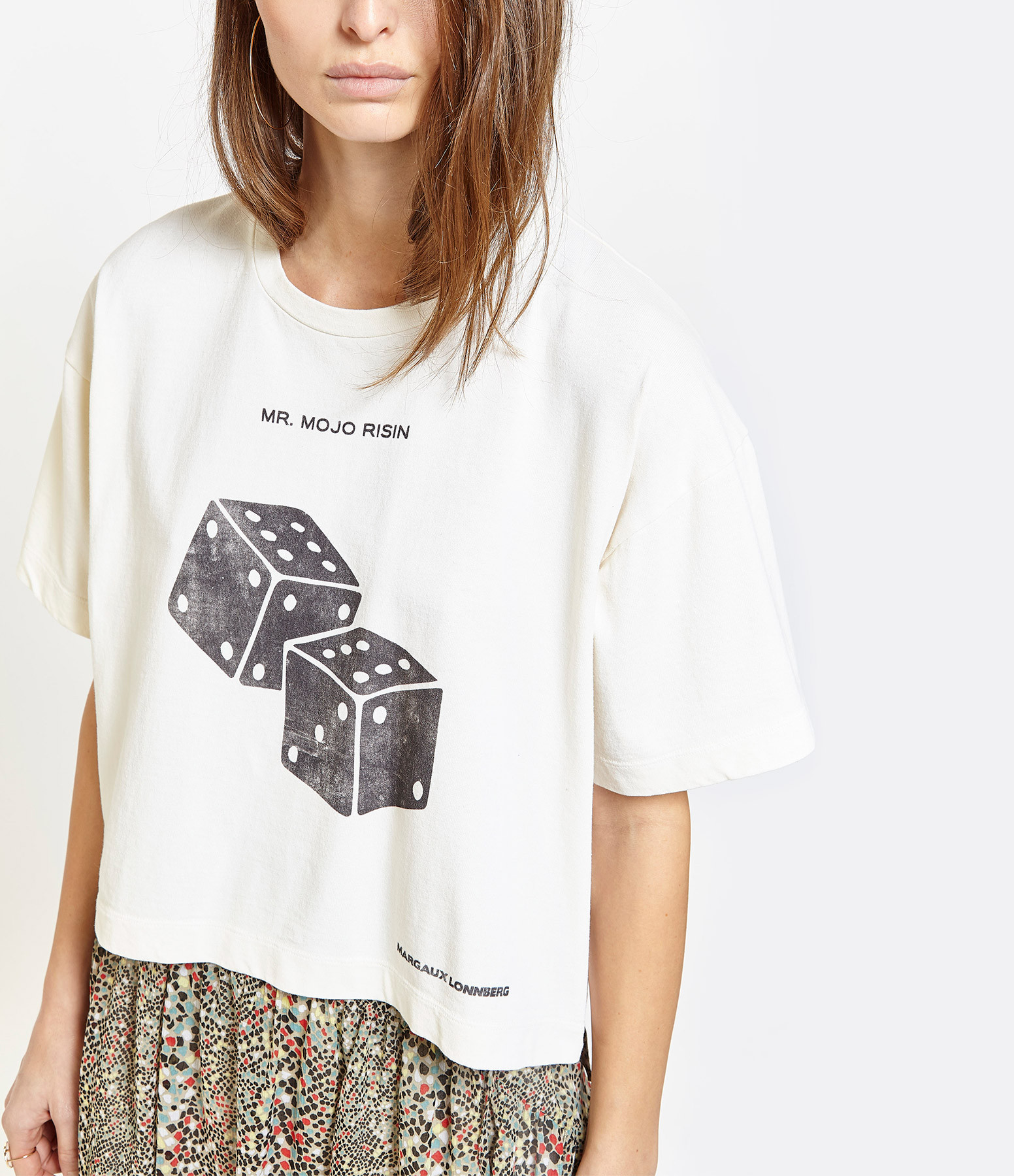 MARGAUX LONNBERG - Tee-shirt Brisa Mojo Imprimé Blanc