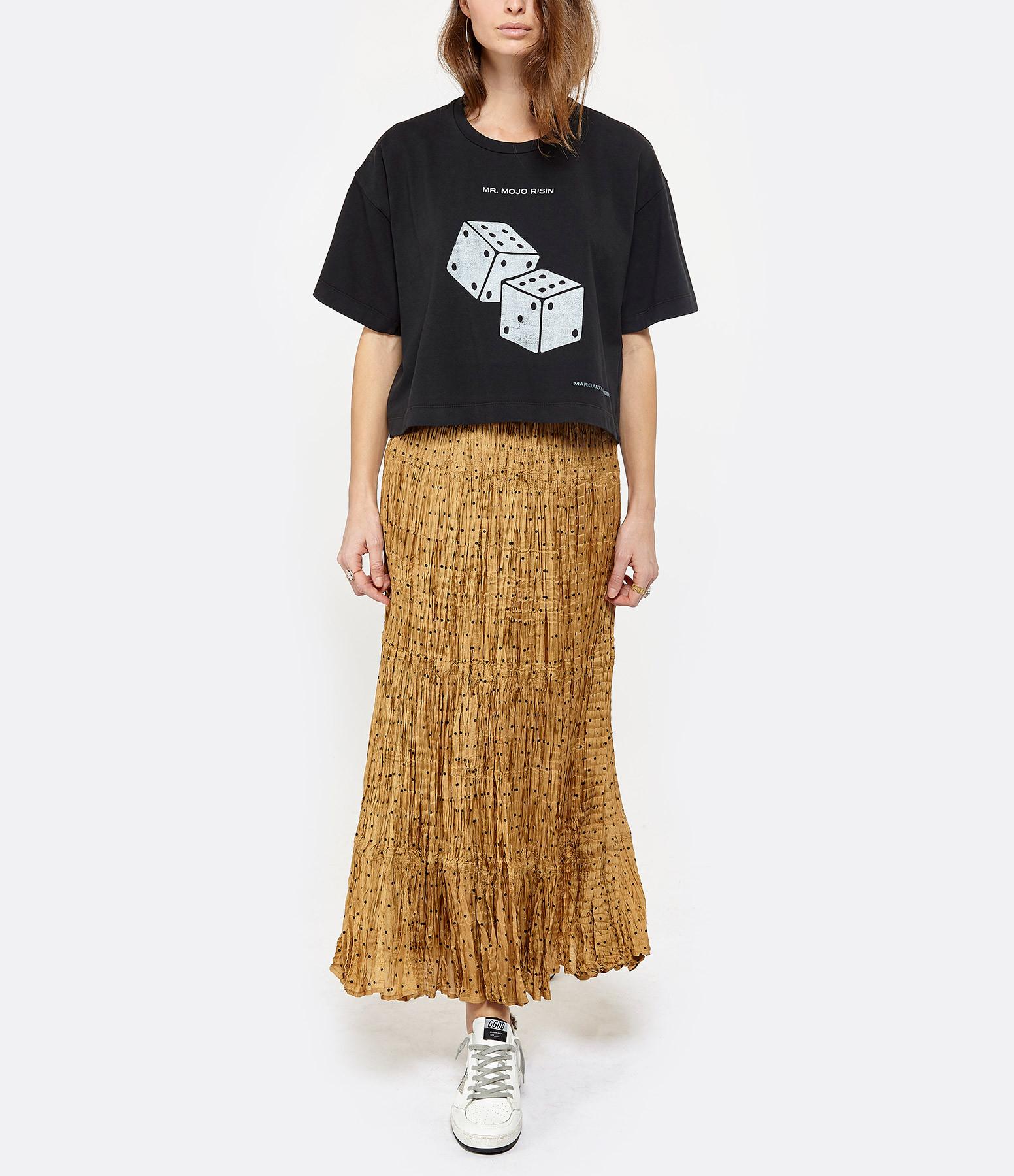 MARGAUX LONNBERG - Tee-shirt Brisa Mojo Imprimé Noir Délavé