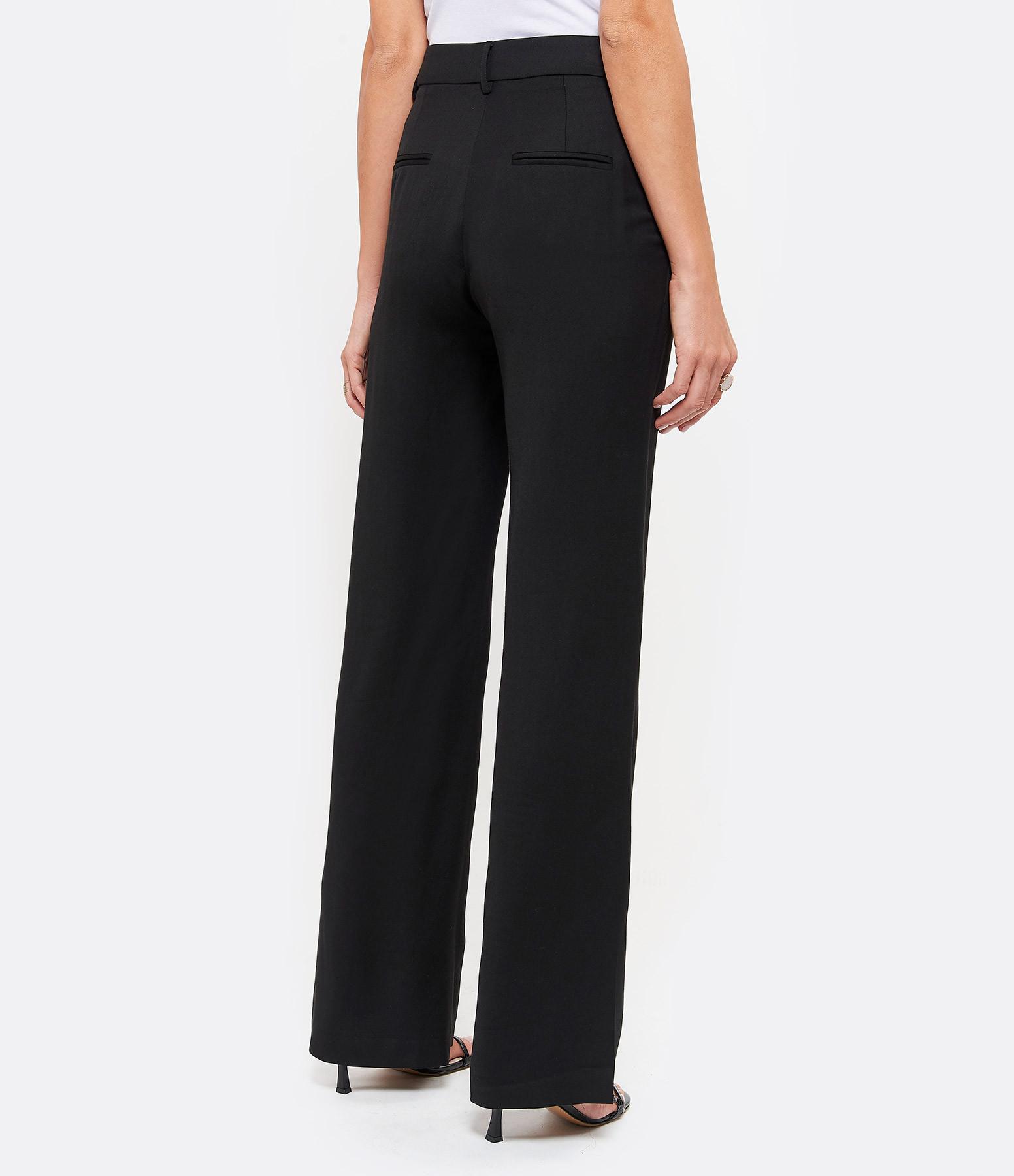 MARGAUX LONNBERG - Pantalon Sellers Laine Noir