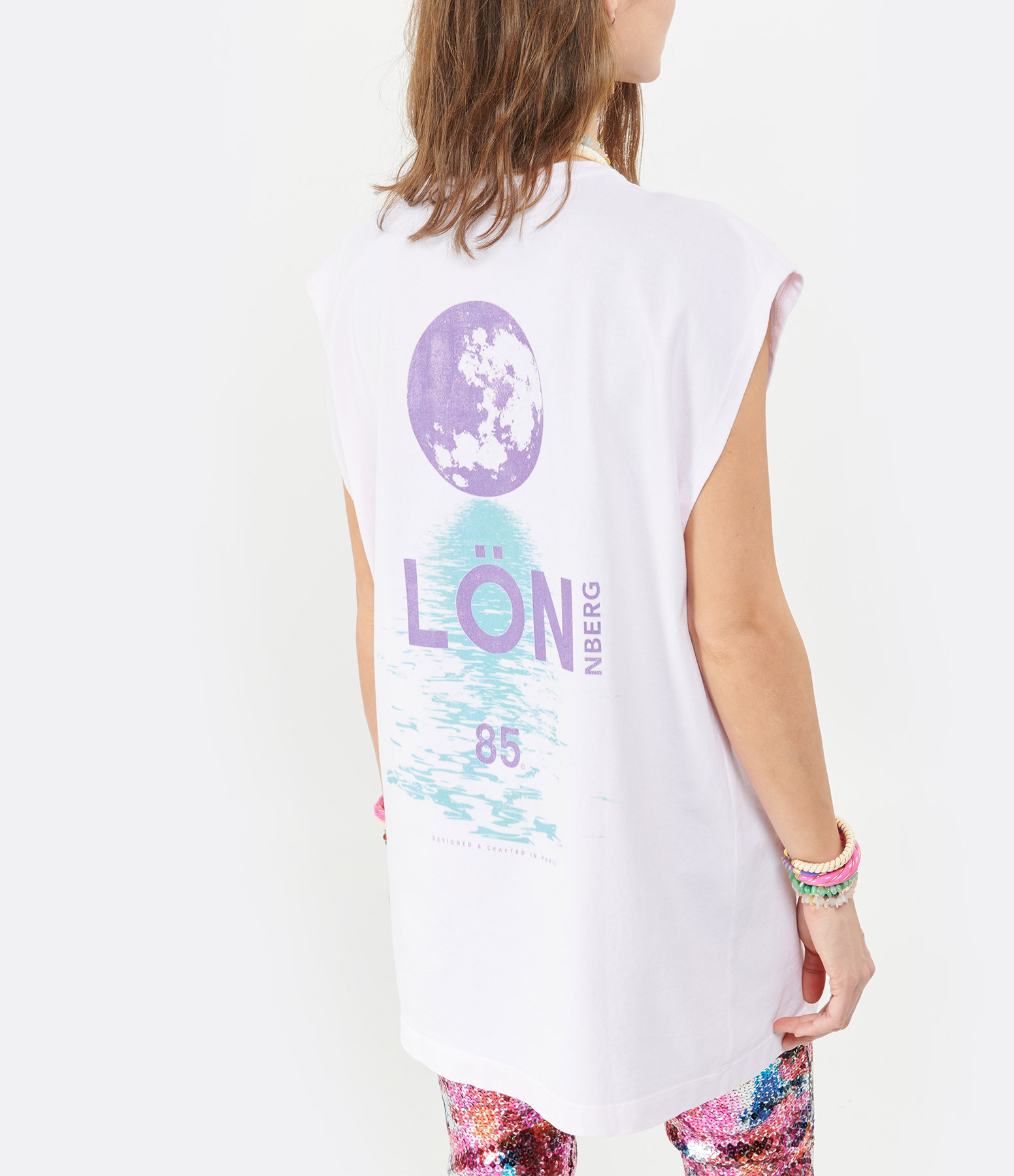 MARGAUX LONNBERG - Tee-shirt Rio Imprimé Rose