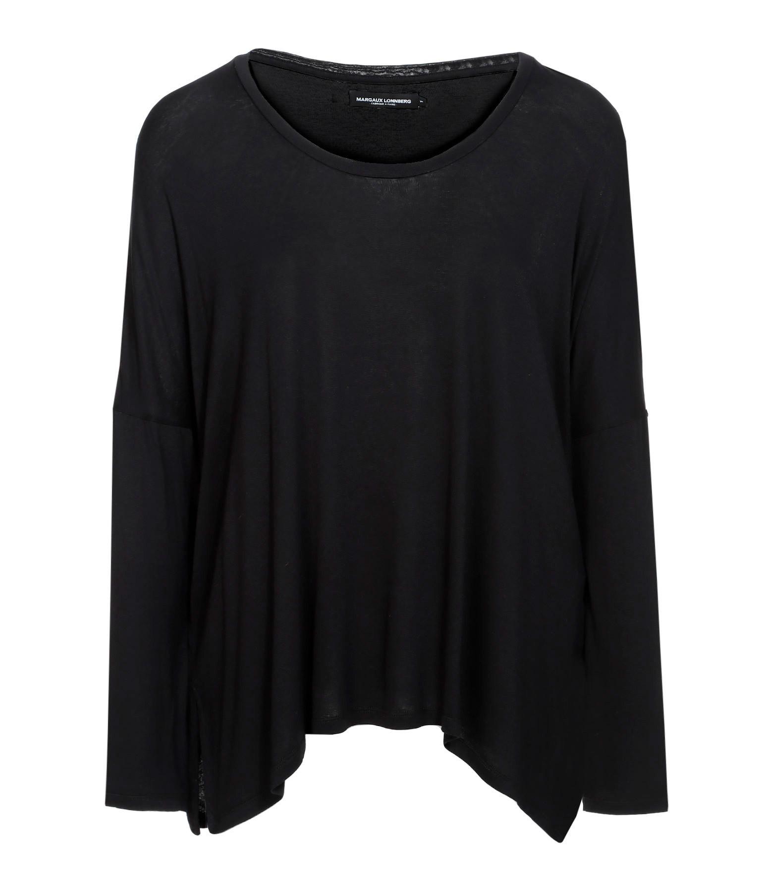MARGAUX LONNBERG - Tee-shirt Ines Coton Noir