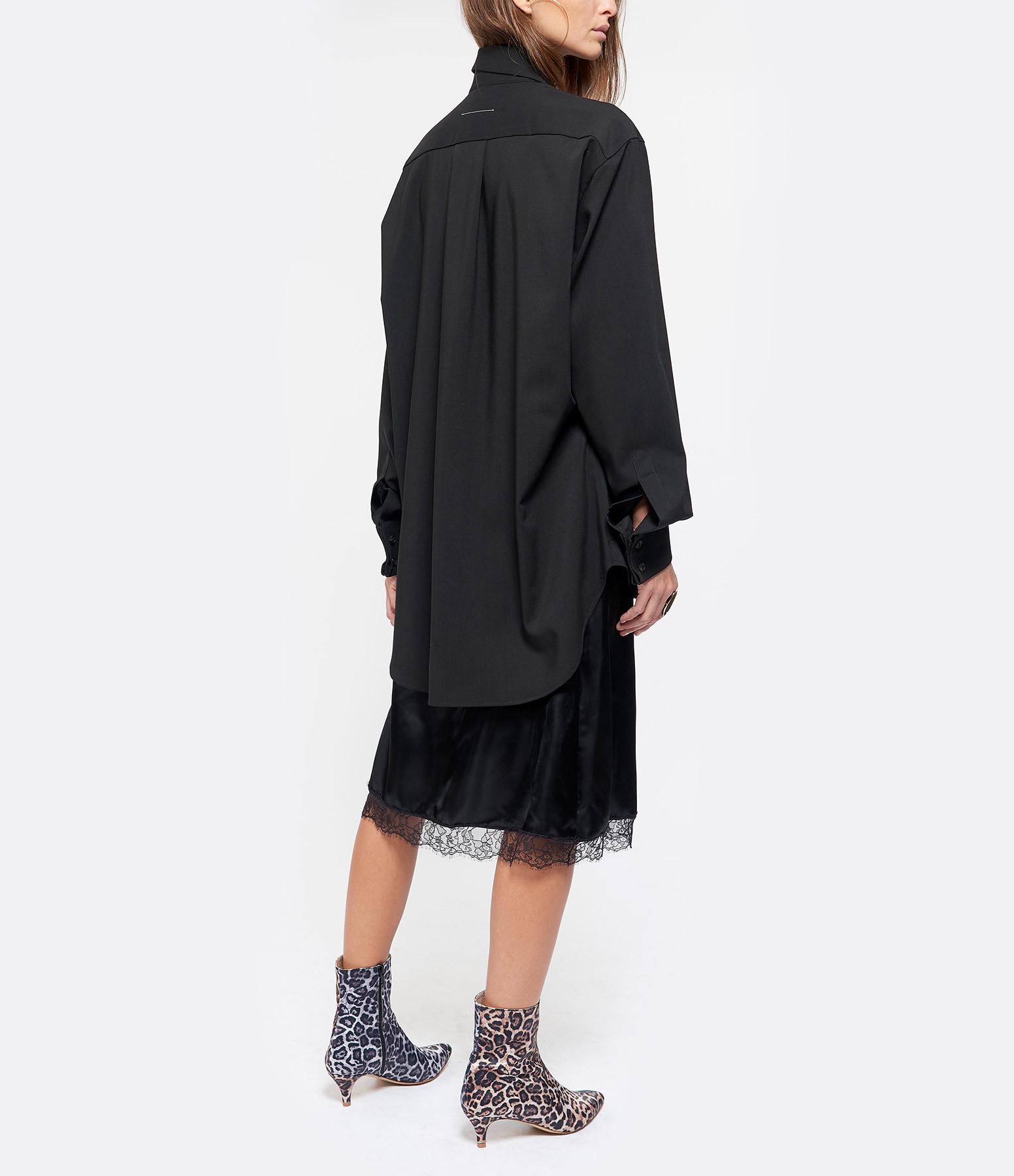 MM6 MAISON MARGIELA - Robe Veste Denim Noir