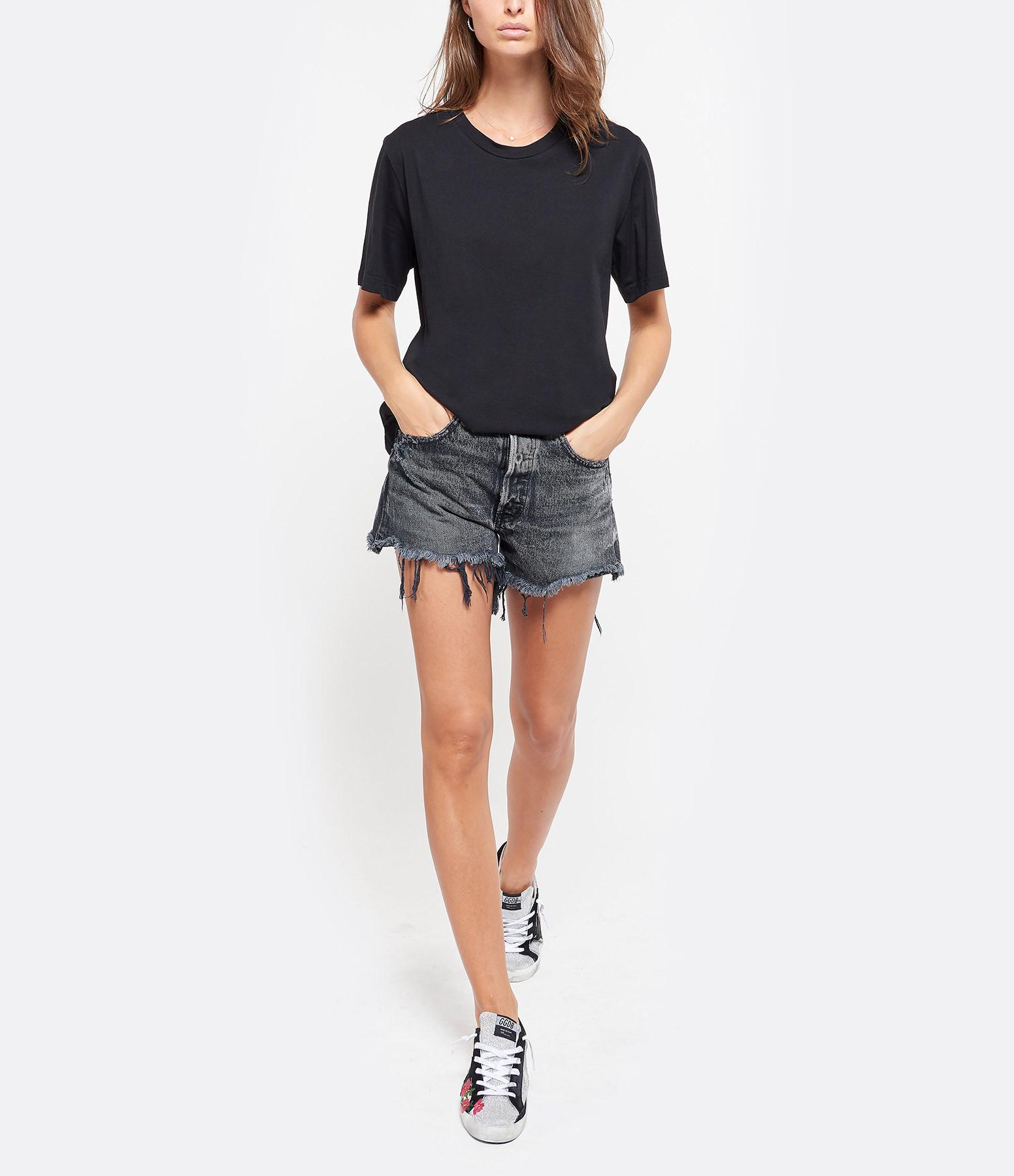 MM6 MAISON MARGIELA - Tee-shirt Coton Imprimé Noir