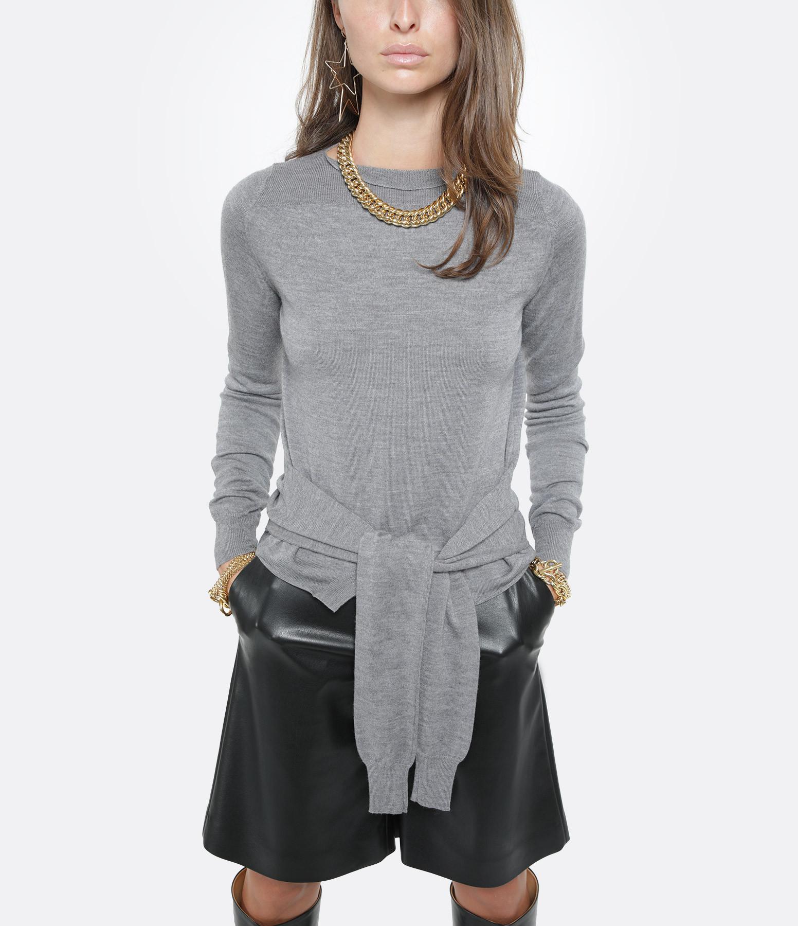 MM6 MAISON MARGIELA - Sweatshirt Laine Gris