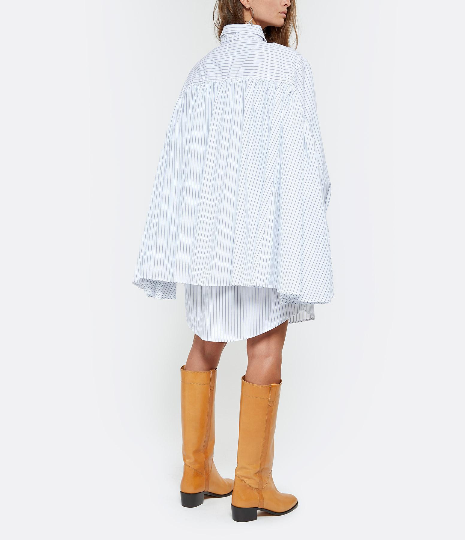 MM6 MAISON MARGIELA - Robe Chemise Oversize Rayures Blanc