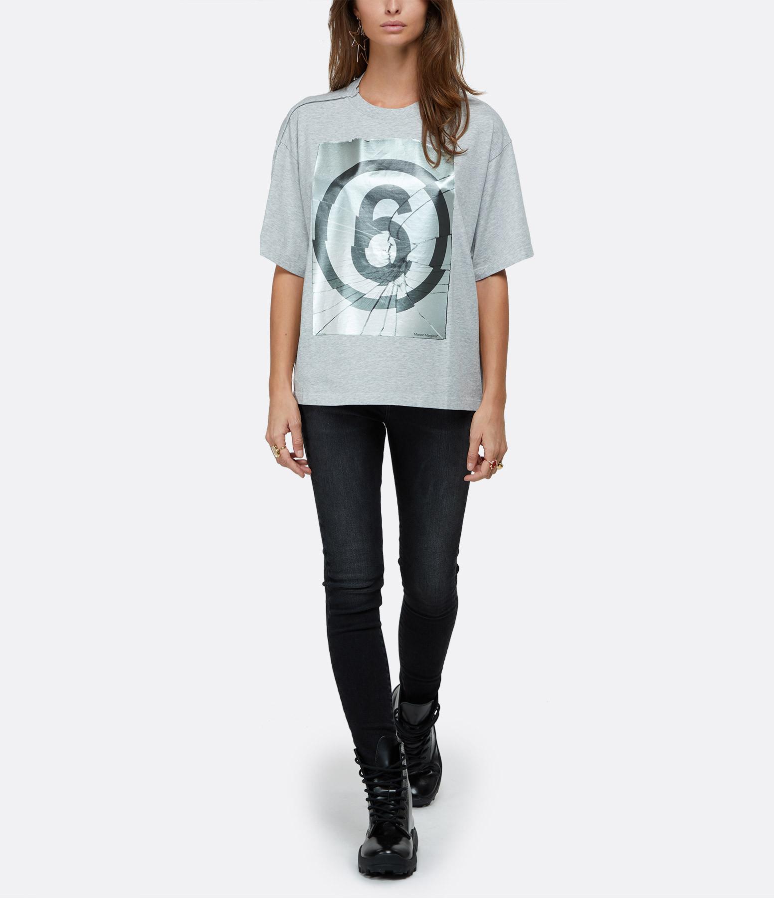 MM6 MAISON MARGIELA - Tee-shirt Oversize Gris