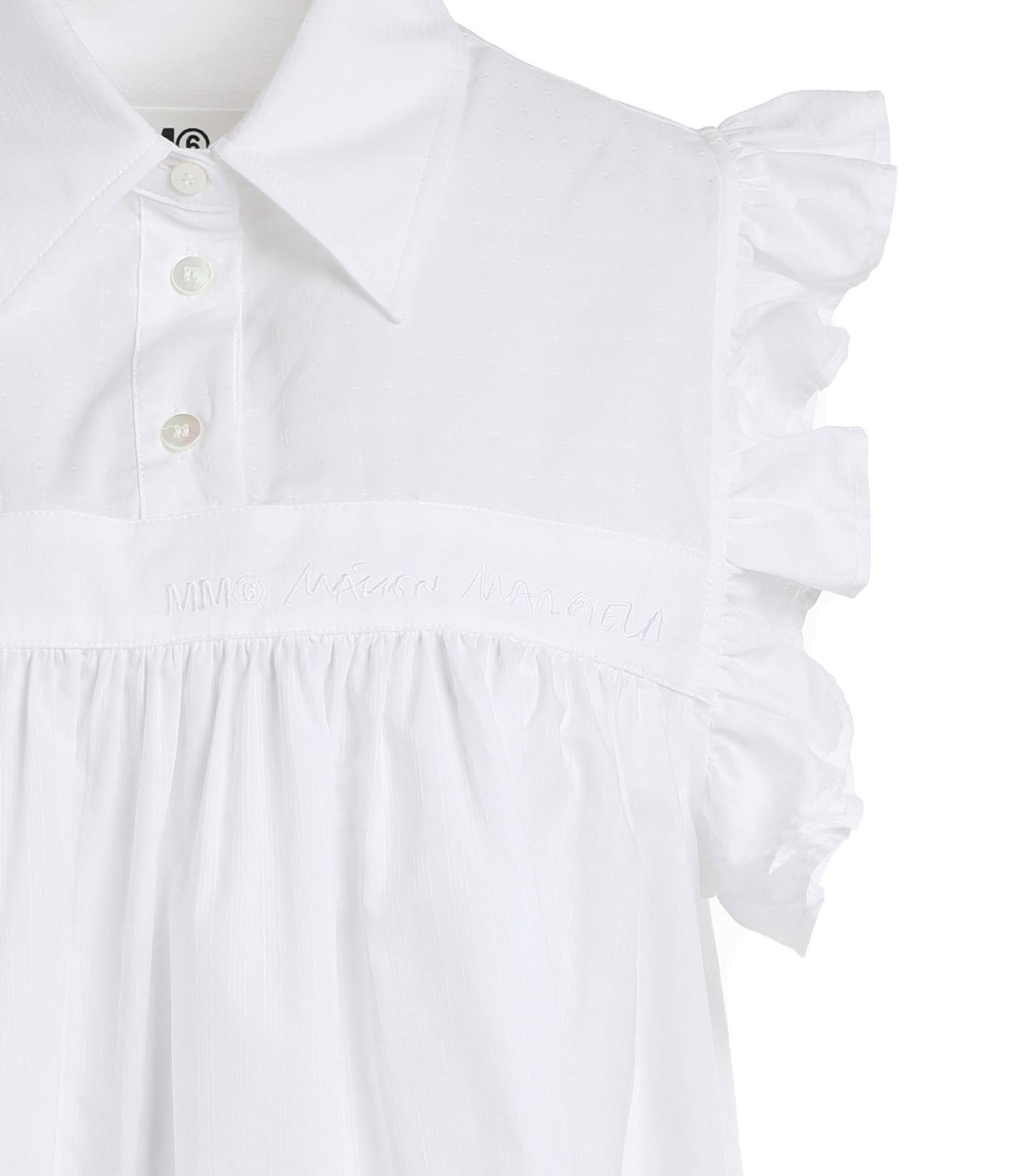 MM6 MAISON MARGIELA - Robe Volants Jacquard Blanc