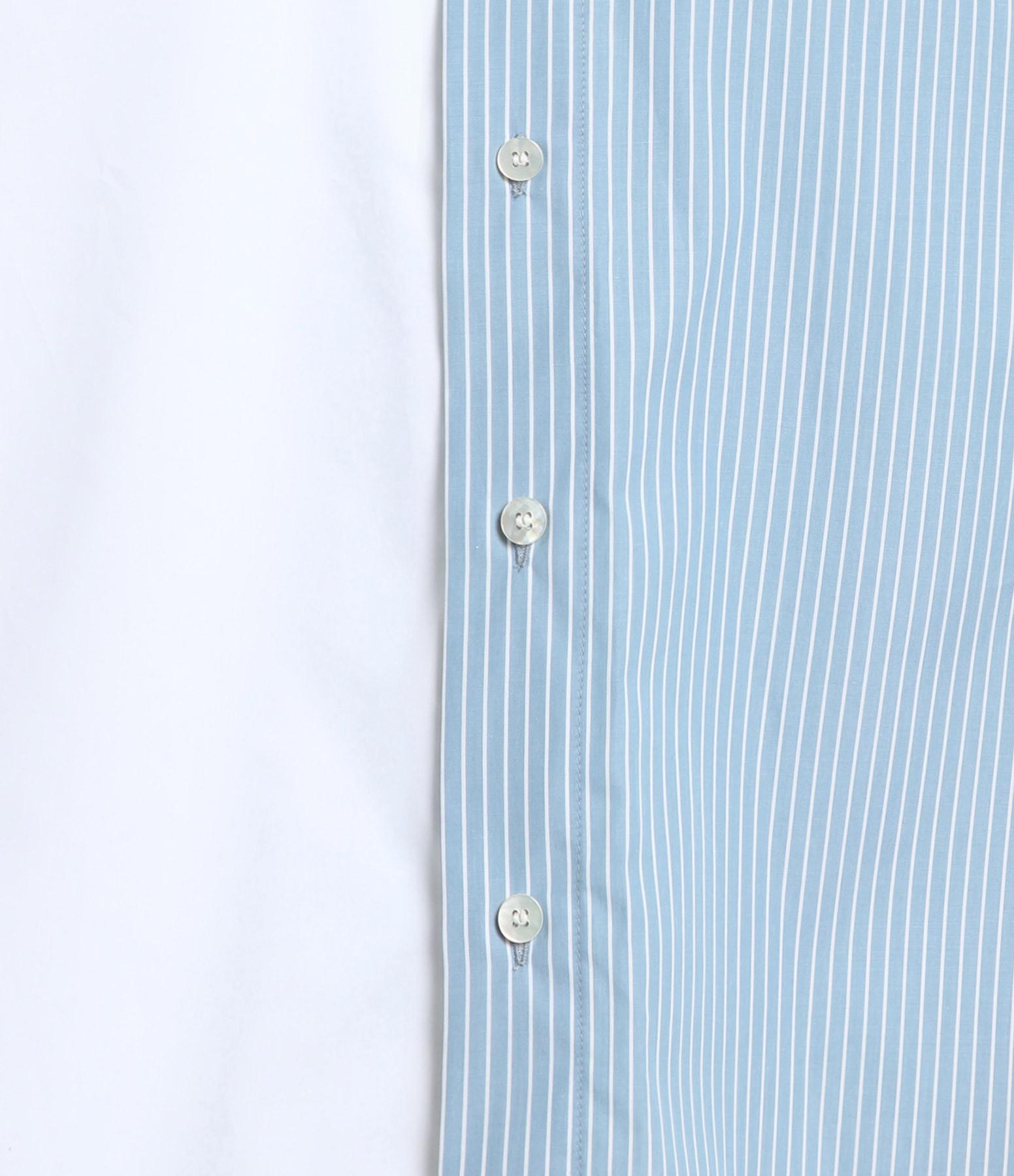 MM6 MAISON MARGIELA - Robe Chemise Loose Rayures Blanc Bleu