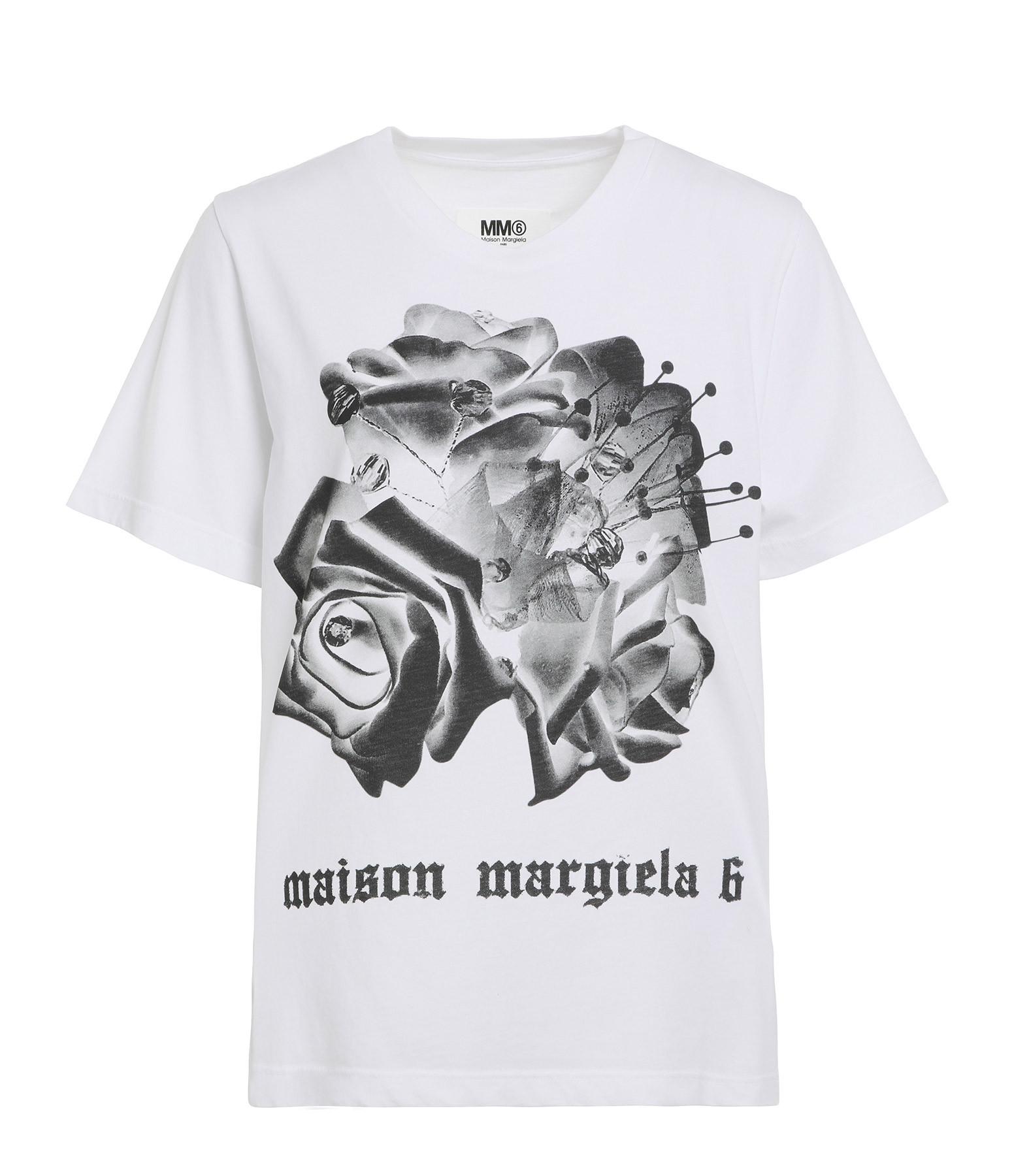MM6 MAISON MARGIELA - Tee-shirt Coton Imprimé Beige