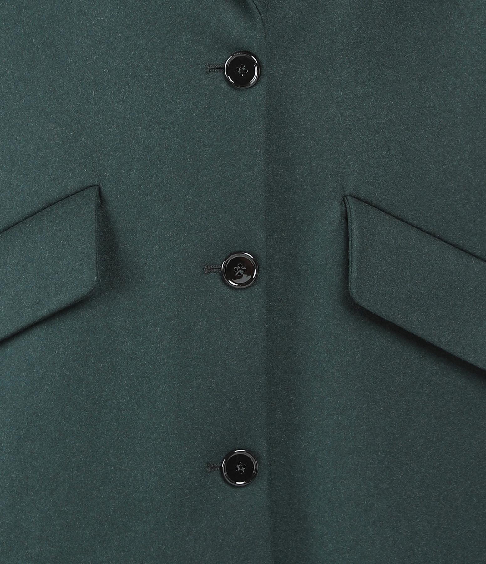 MM6 MAISON MARGIELA - Manteau Laine Oversize Vert Canard