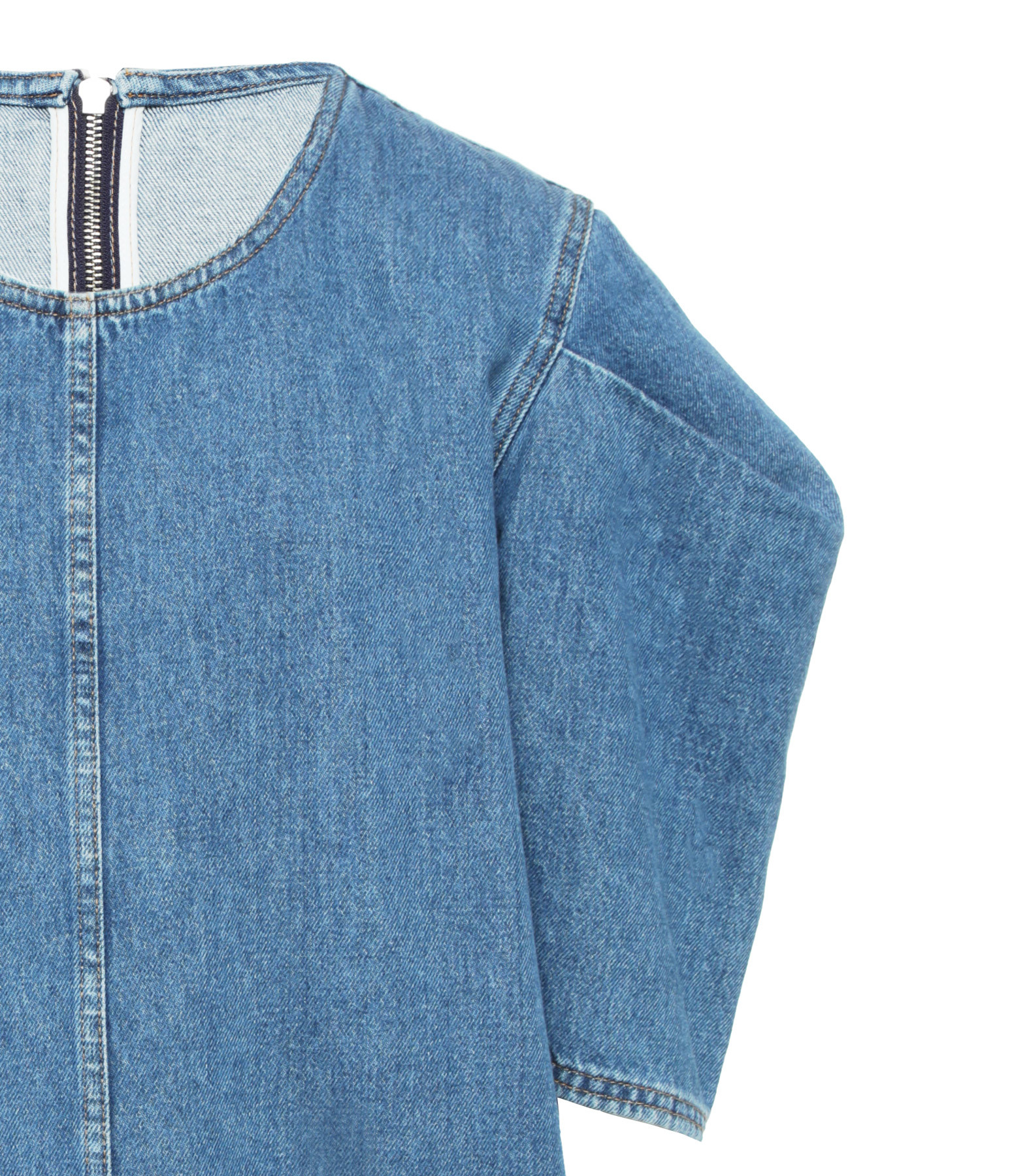 MM6 MAISON MARGIELA - Robe Indigo Denim Délavé