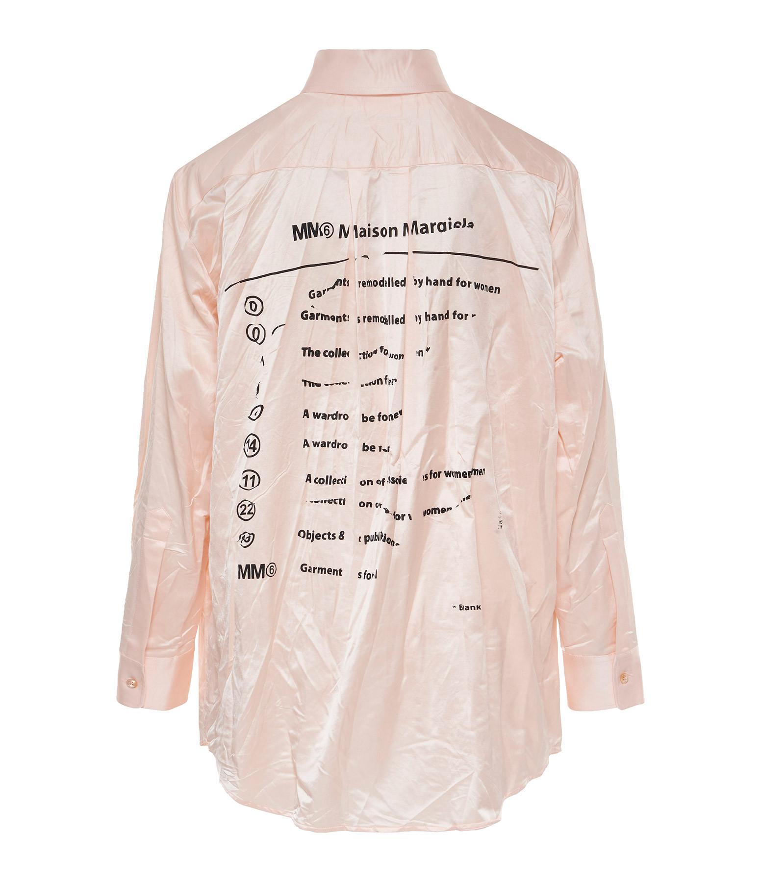 MM6 MAISON MARGIELA - Chemise Coton Rose