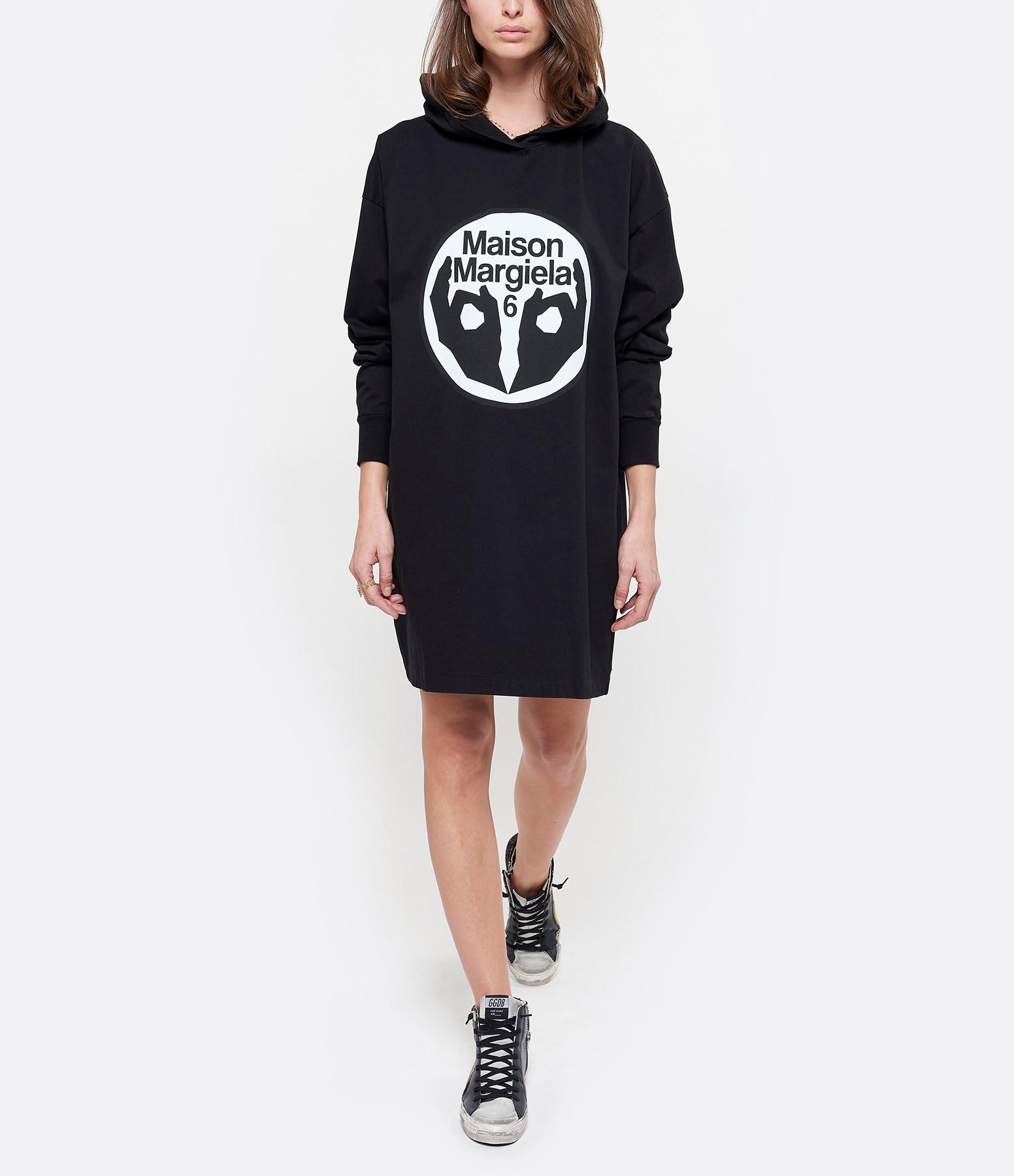 MM6 MAISON MARGIELA - Robe Sweatshirt American Jersey Noir