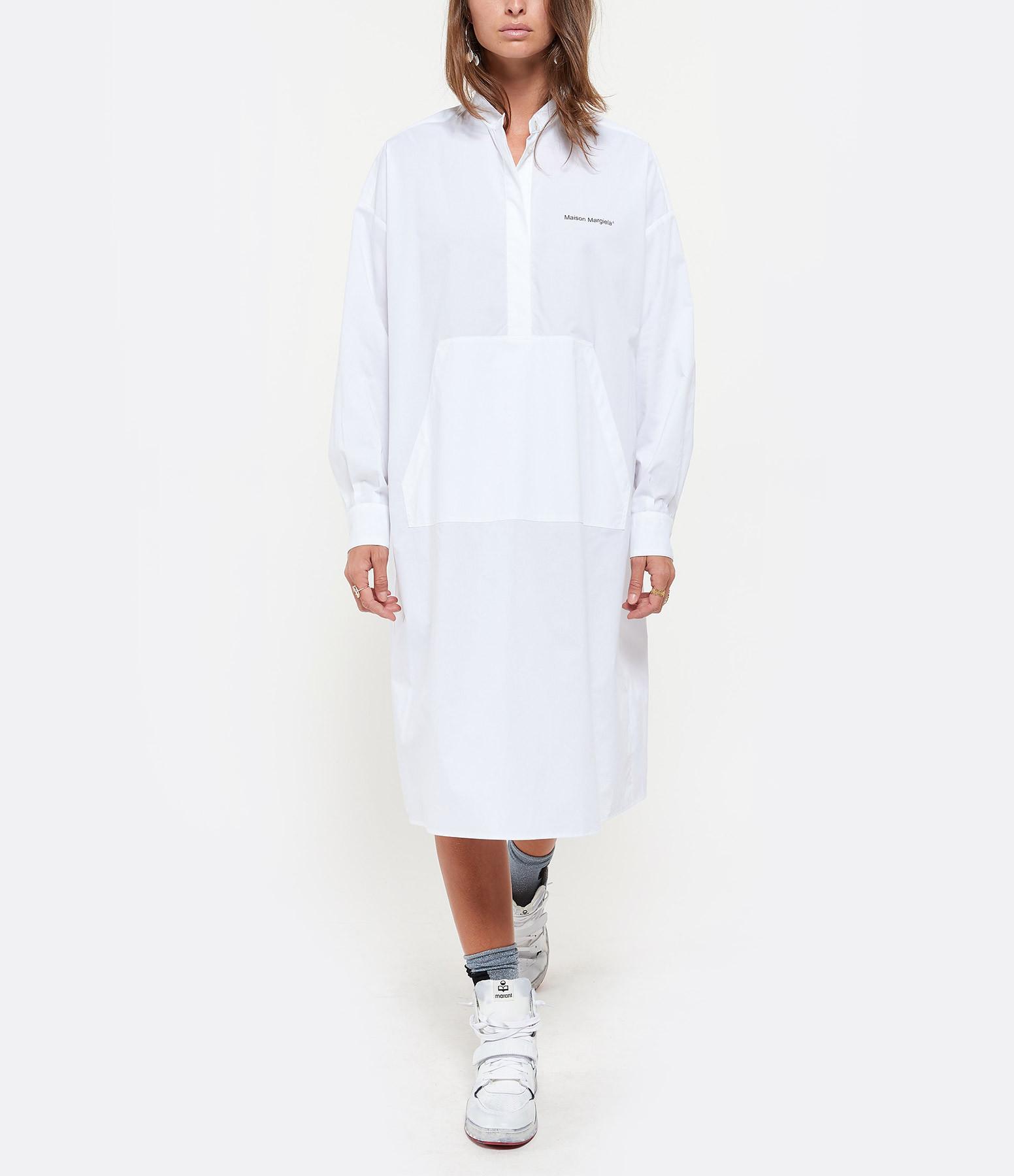 MM6 MAISON MARGIELA - Robe Popeline Parachute Blanc