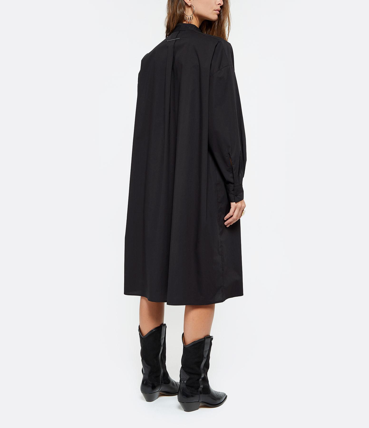 MM6 MAISON MARGIELA - Robe Popeline Parachute Noir
