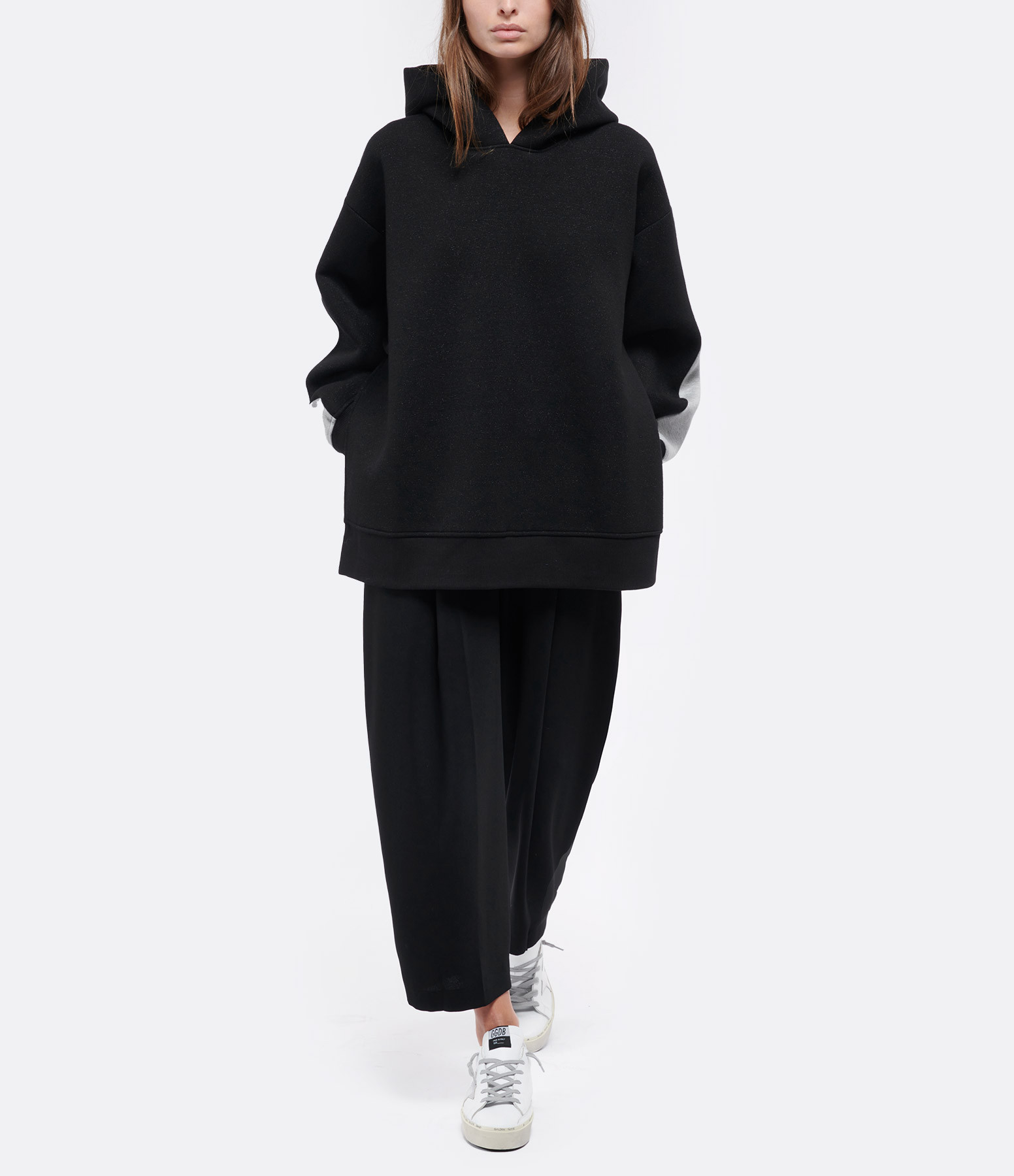 MM6 MAISON MARGIELA - Sweatshirt Oversize Gris Noir