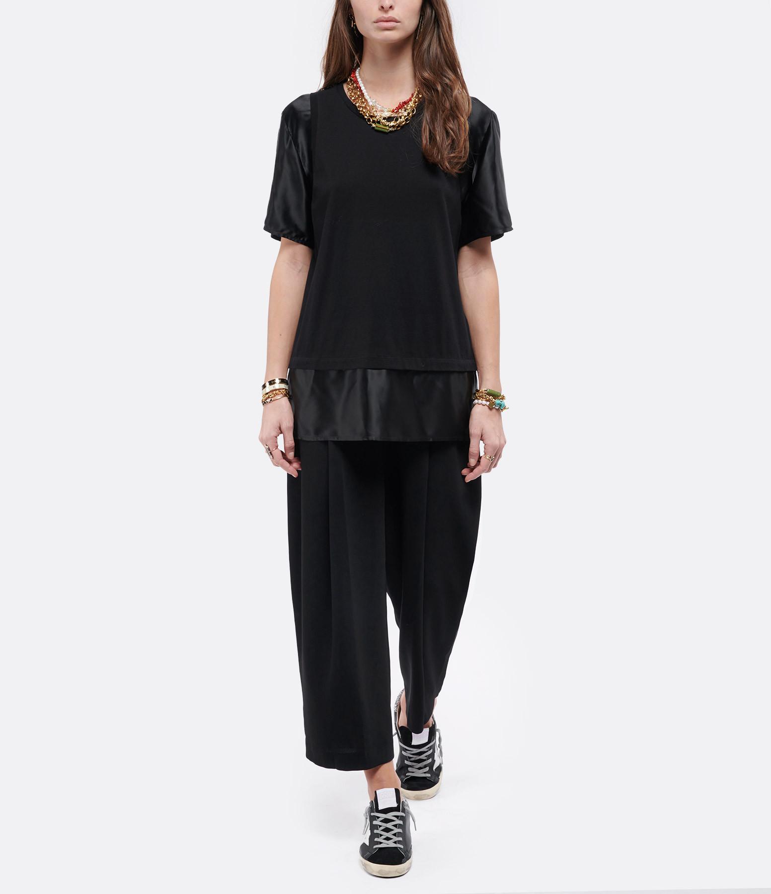 MM6 MAISON MARGIELA - Tee-shirt Jersey Noir