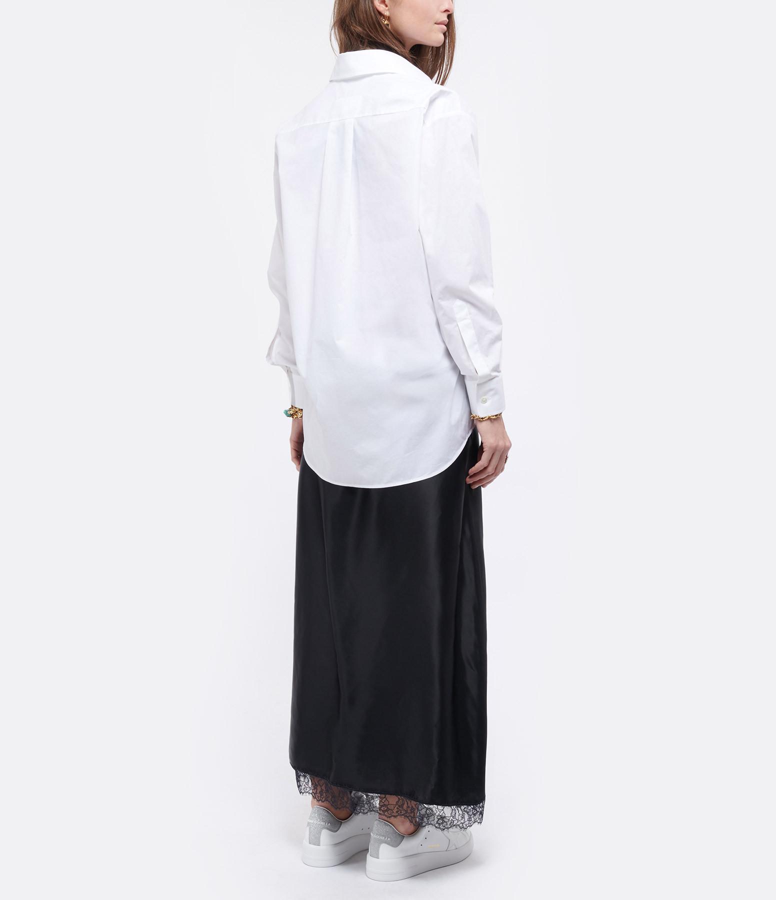 MM6 MAISON MARGIELA - Robe Coton Popeline Noir Blanc