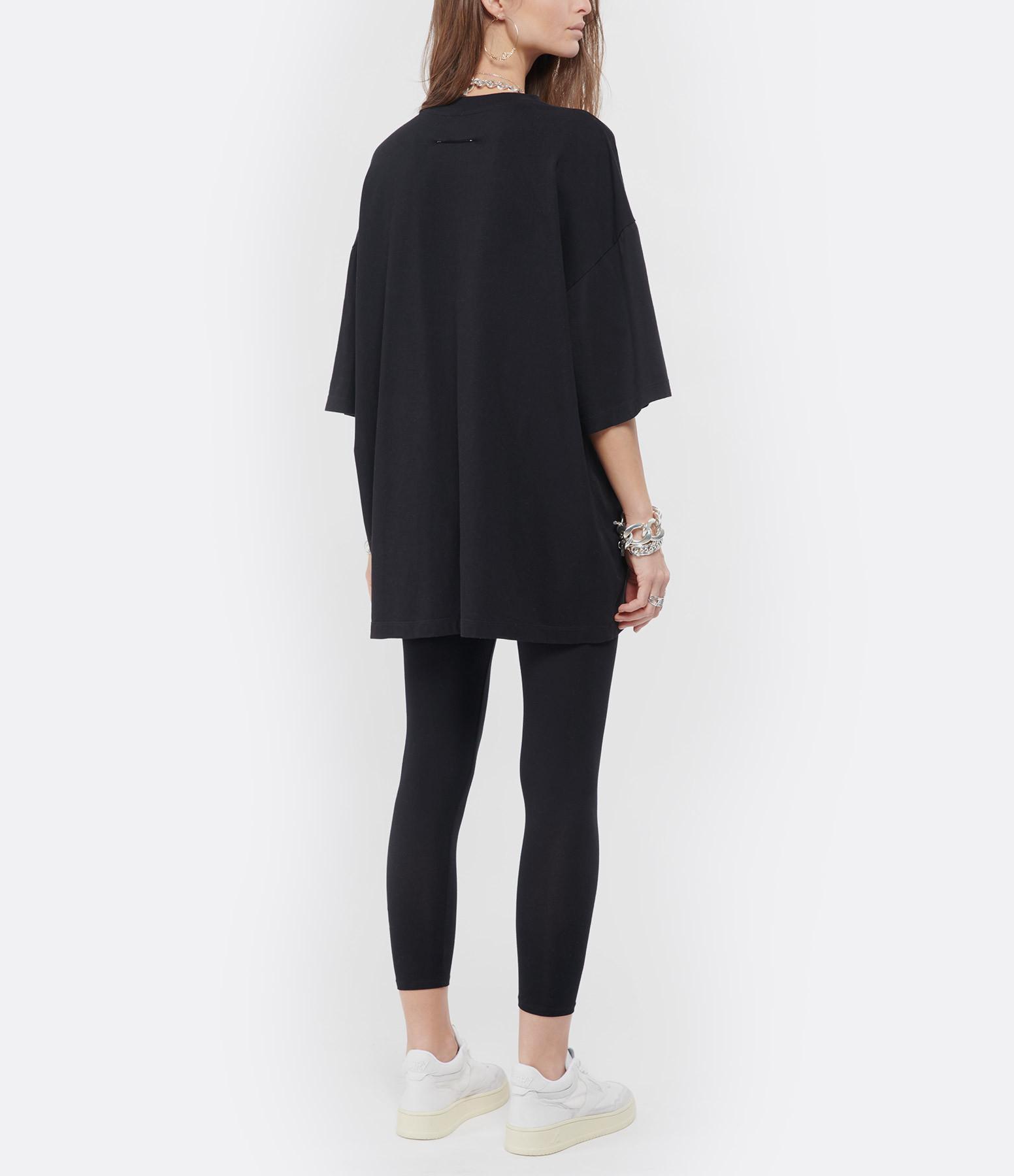 MM6 MAISON MARGIELA - Tee-shirt Oversize Jersey Noir