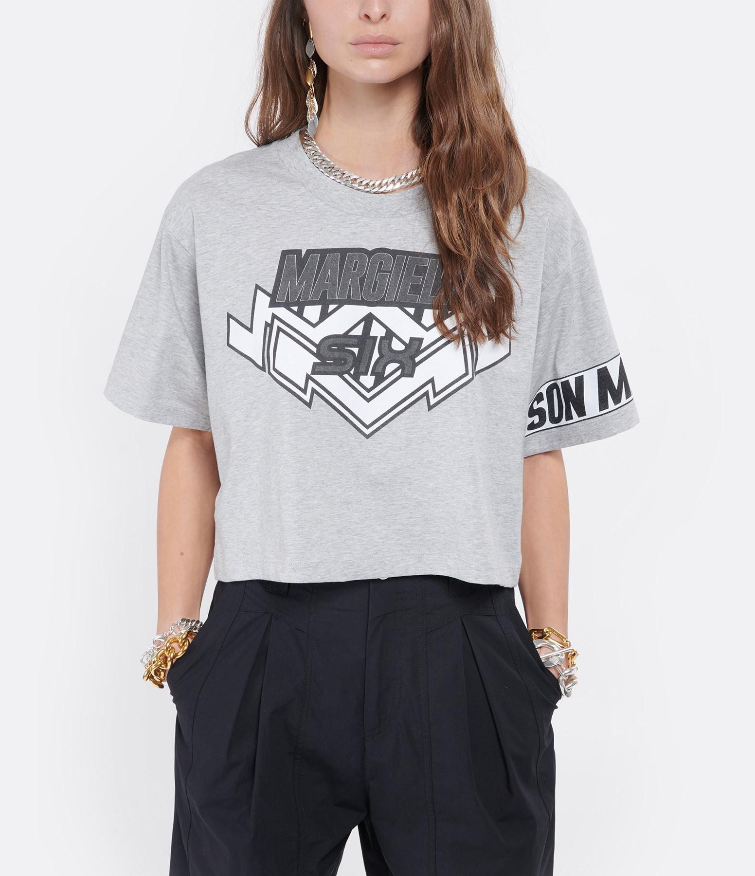 MM6 MAISON MARGIELA - Tee-shirt Rettangular Jersey Gris
