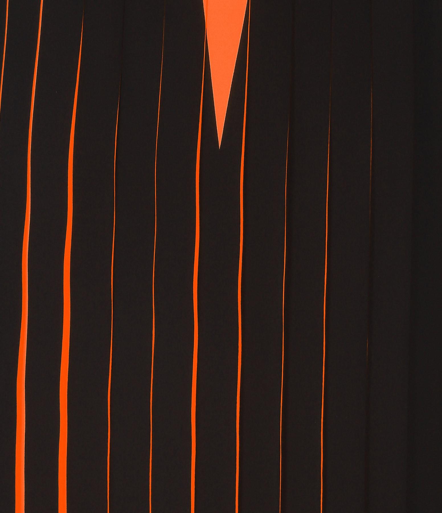 MM6 MAISON MARGIELA - Jupe Plissée Orange Fluo
