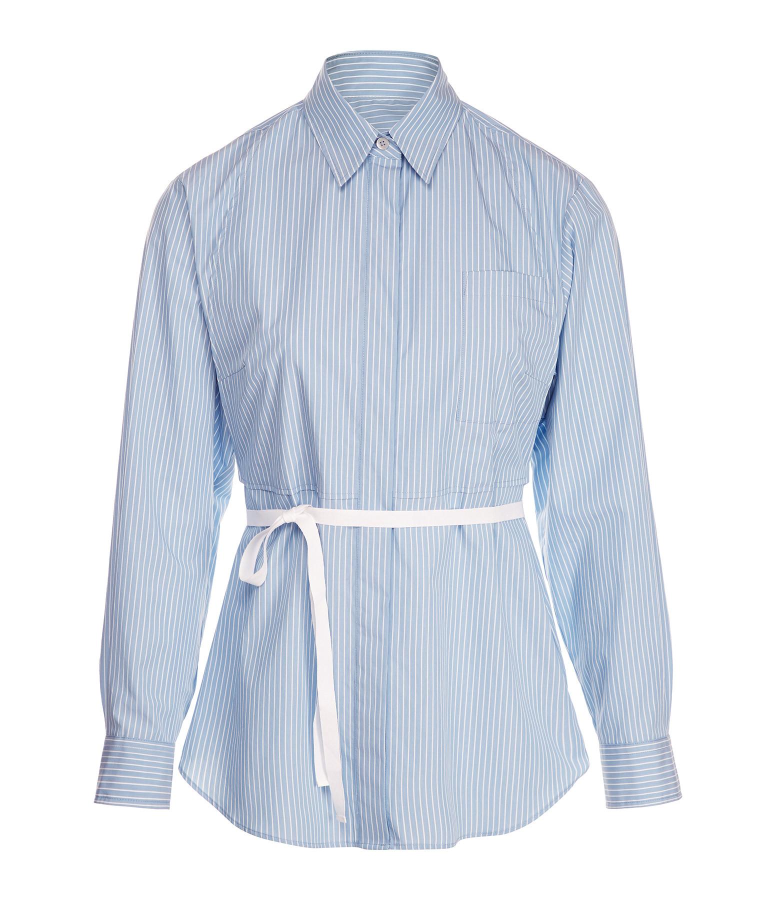 MM6 MAISON MARGIELA - Chemise Popeline Rayures Blanc Bleu