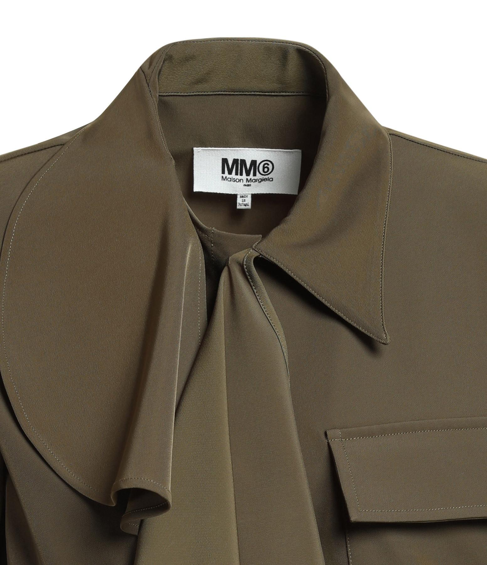 MM6 MAISON MARGIELA - Chemise Asymétrique Kaki