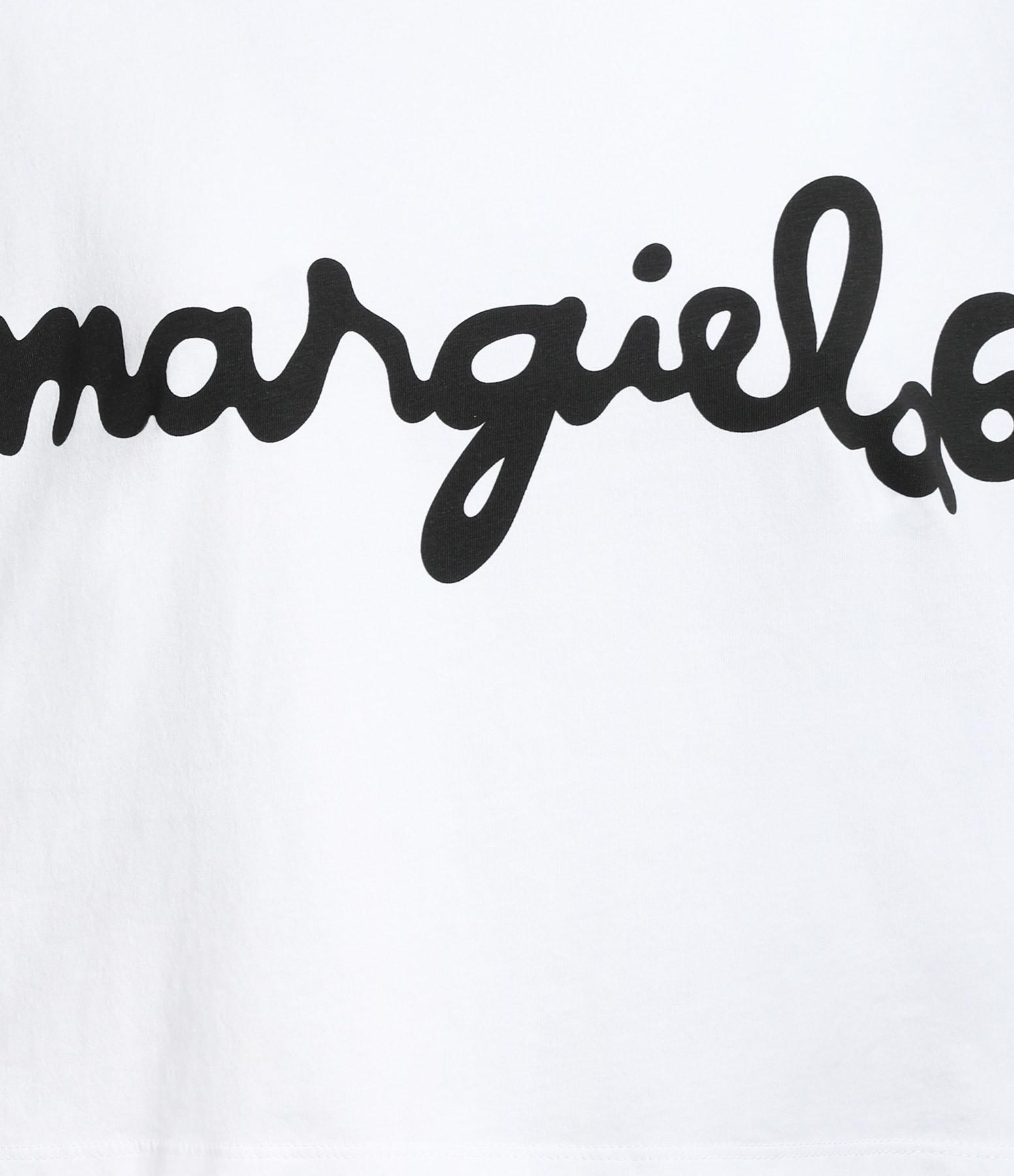 MM6 MAISON MARGIELA - Tee-shirt Basic Rettangular Coton Blanc