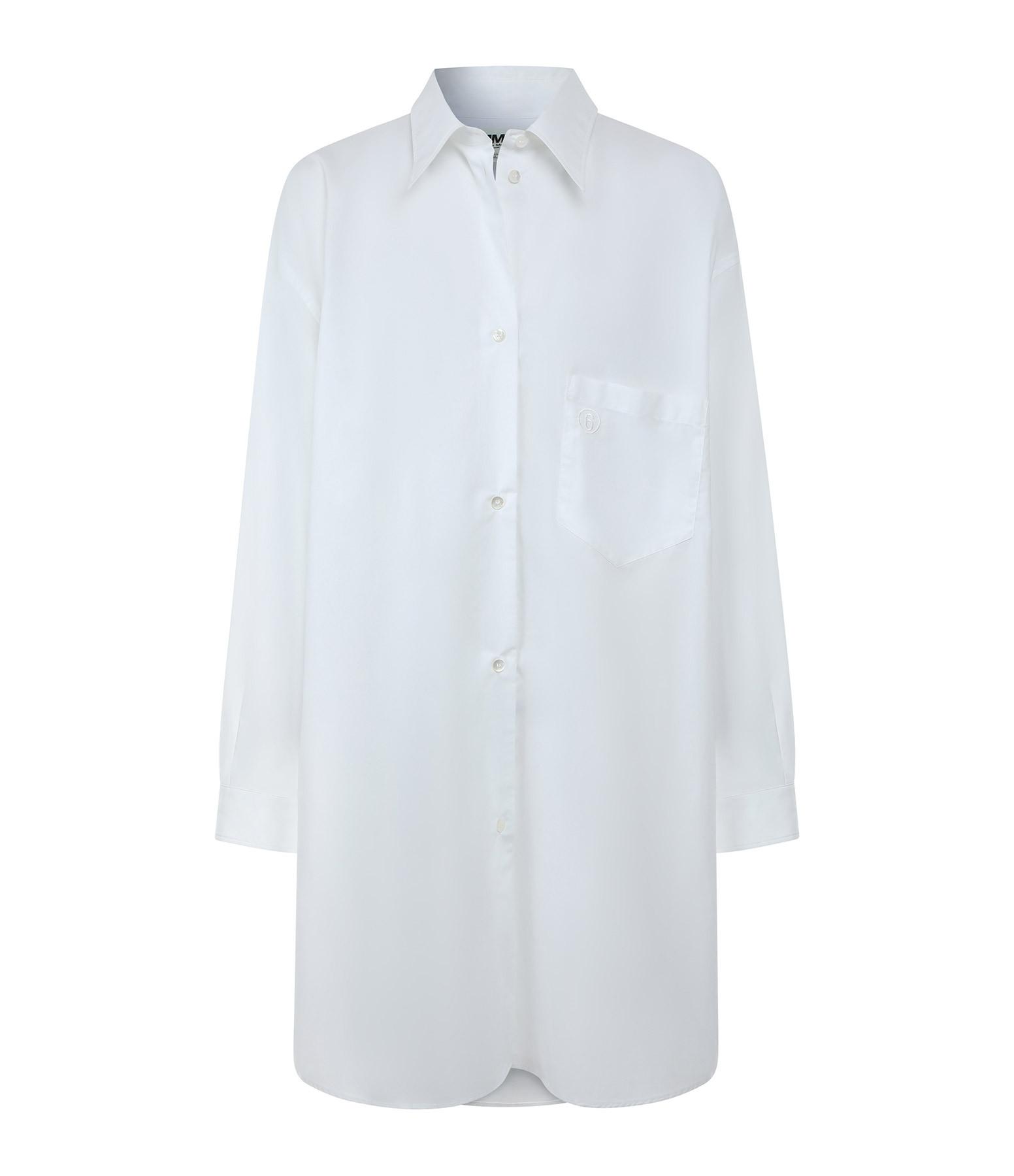 MM6 MAISON MARGIELA - Robe Oversize Blanc
