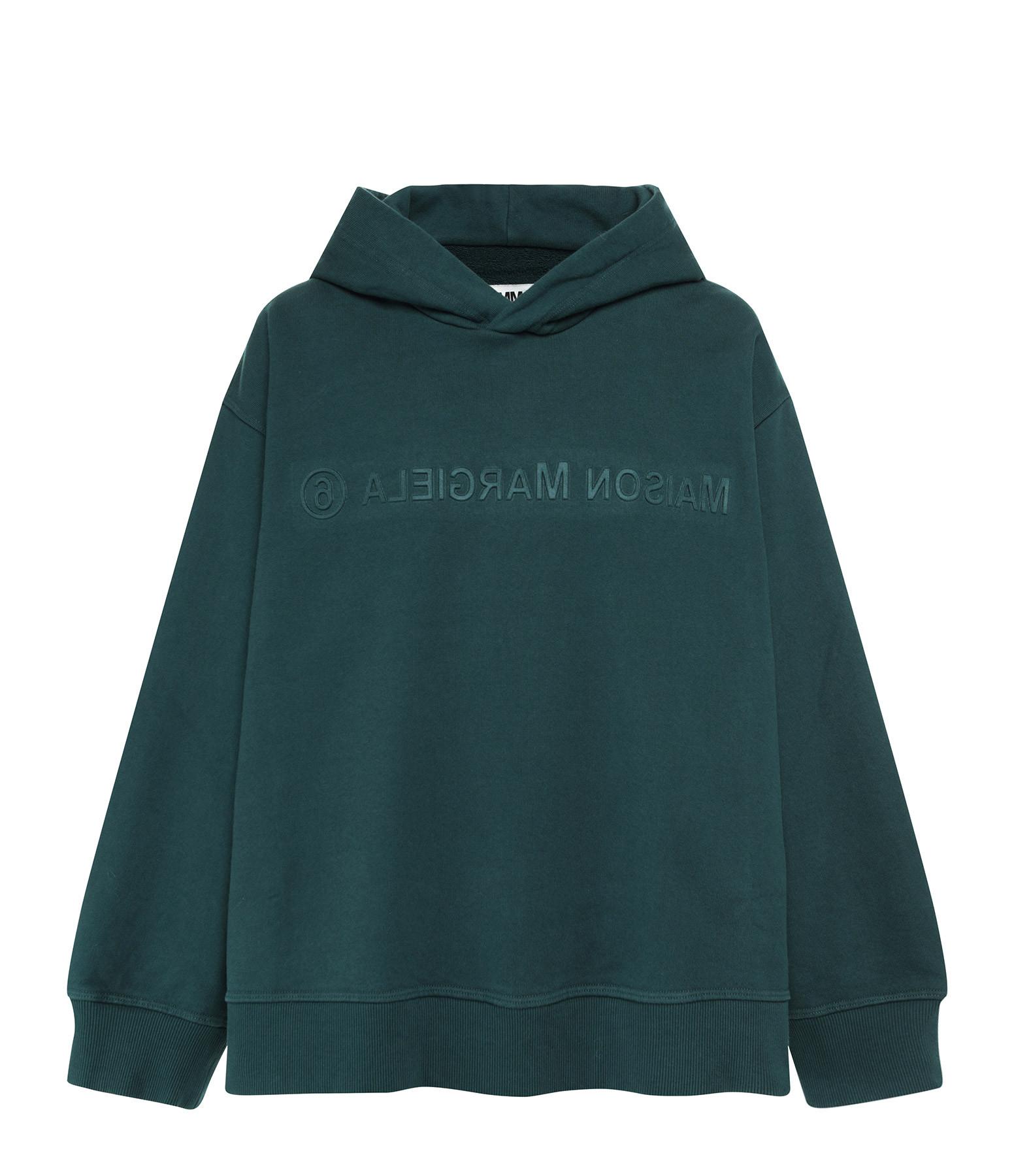 MM6 MAISON MARGIELA - Sweatshirt Imprimé Vert Foncé