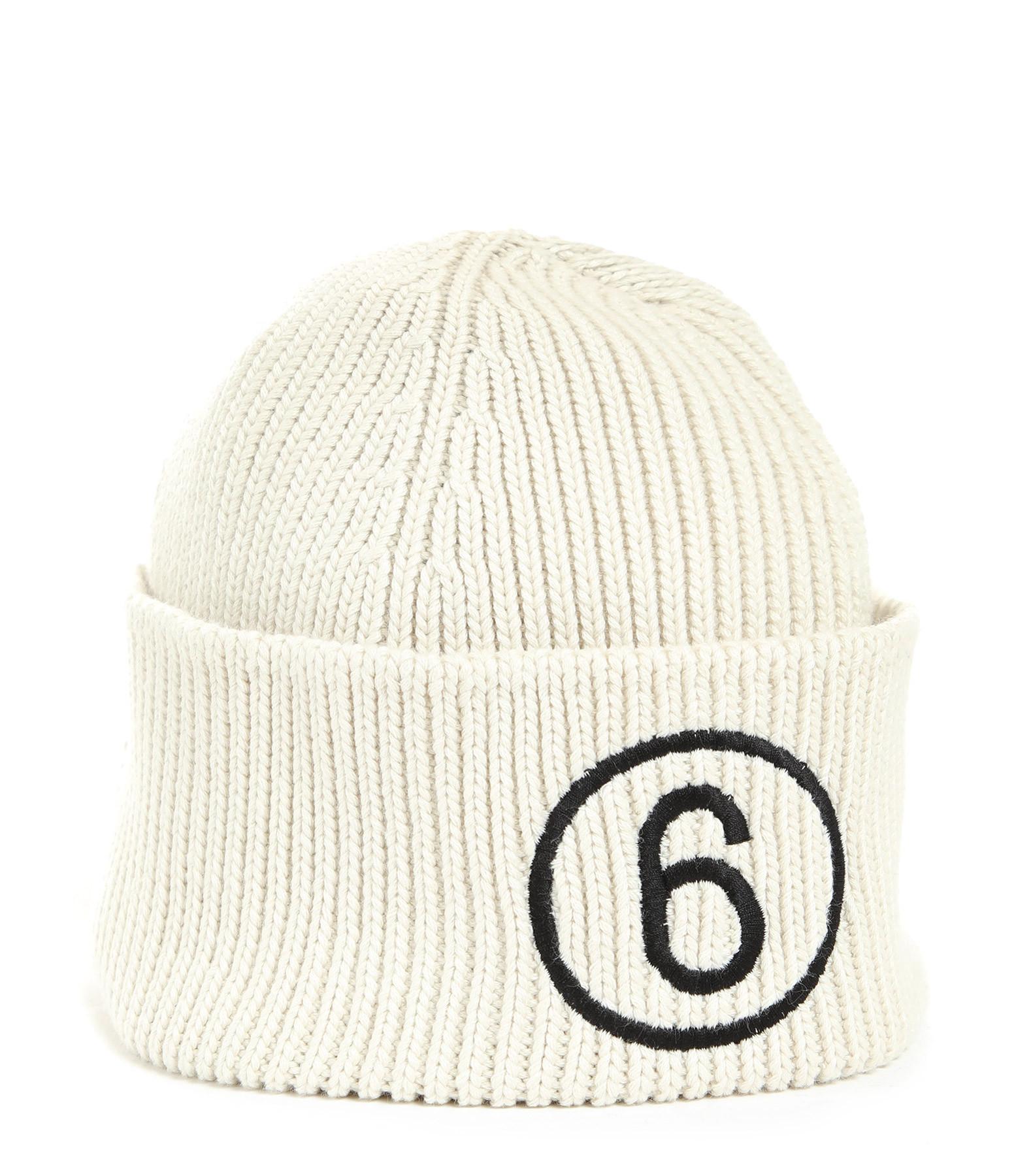 MM6 MAISON MARGIELA - Bonnet Logo Coton Beige