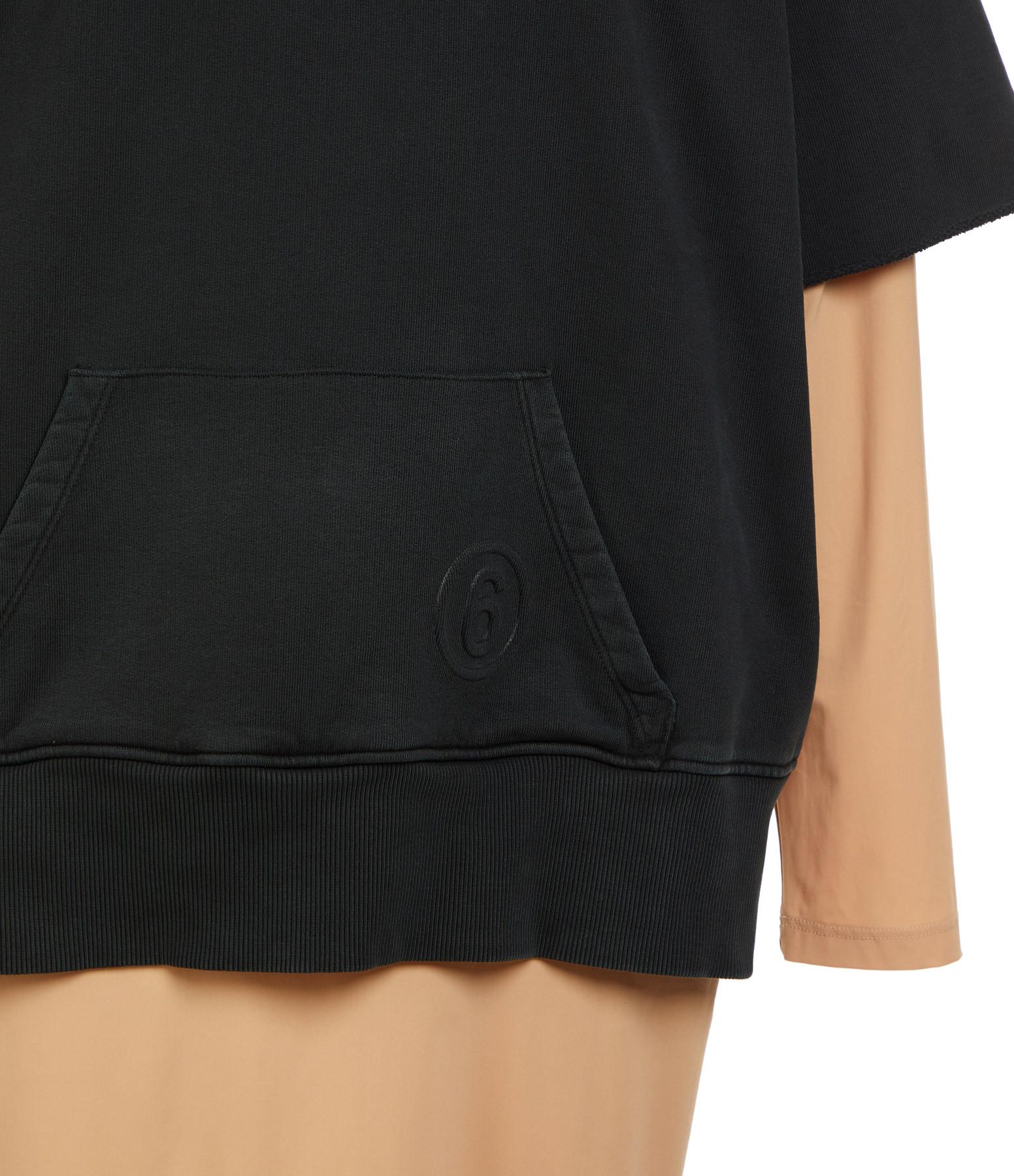 MM6 MAISON MARGIELA - Robe Coton Noir Nude