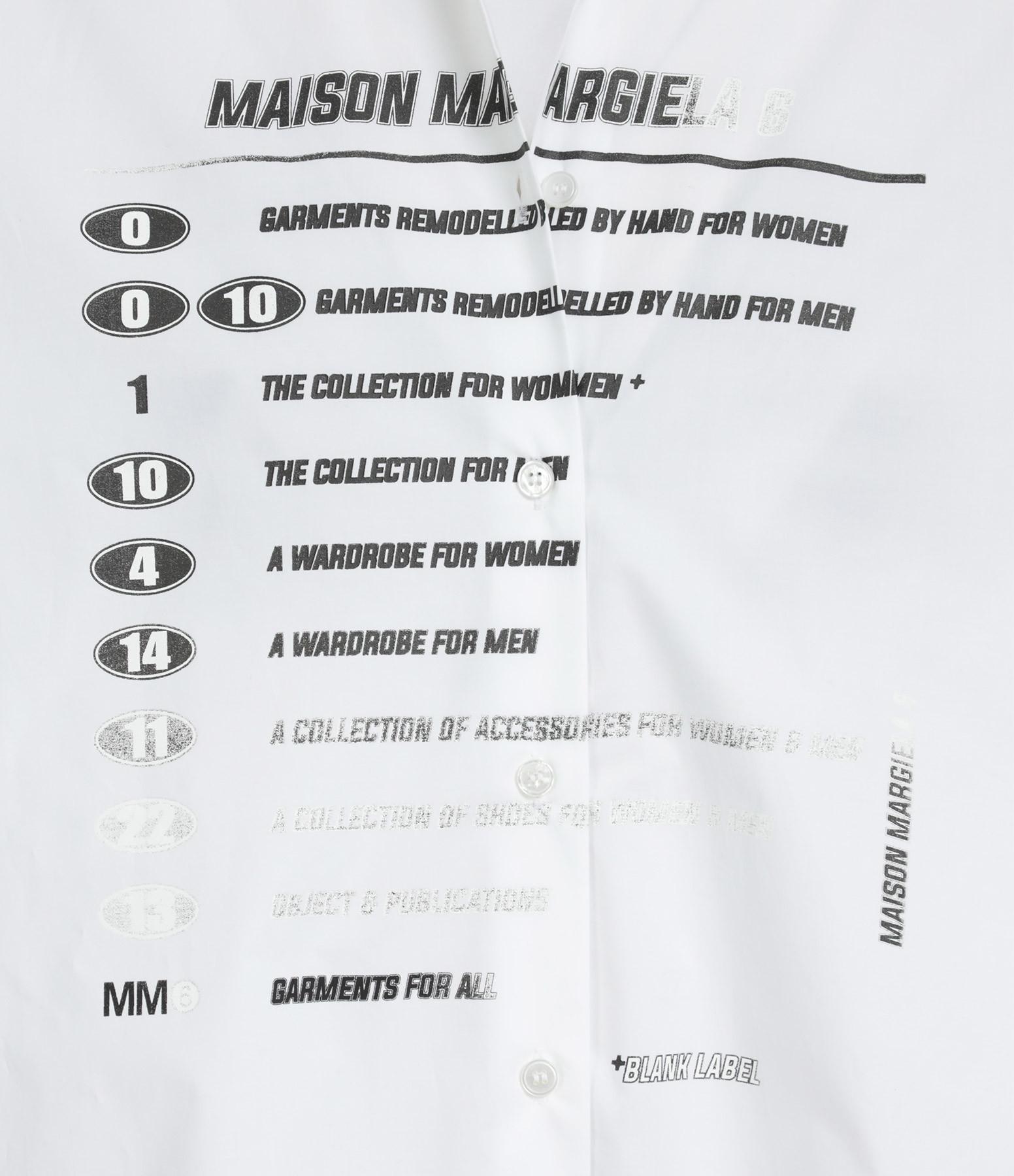 MM6 MAISON MARGIELA - Chemise Coton Popeline Blanc